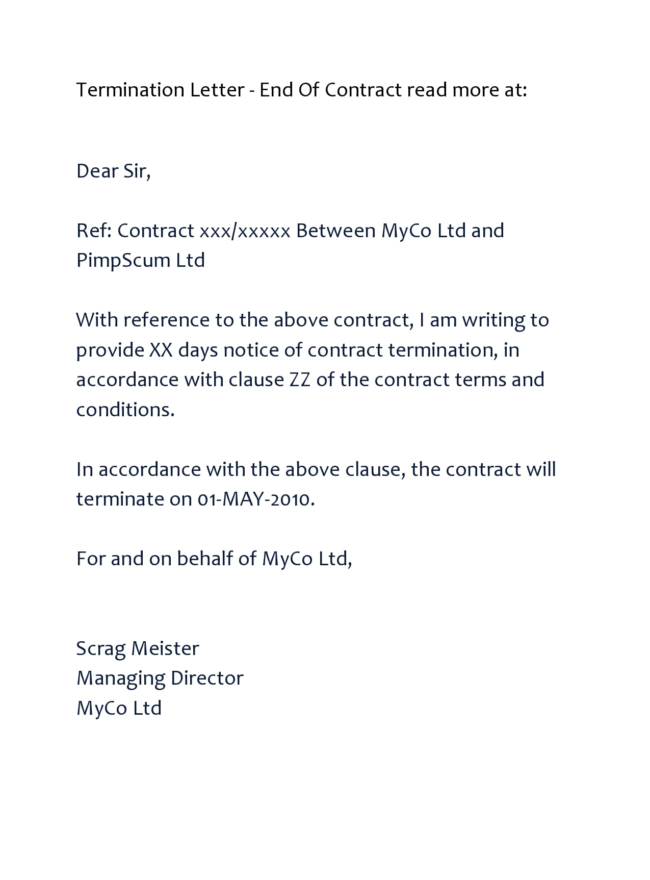 contract termination letter 44