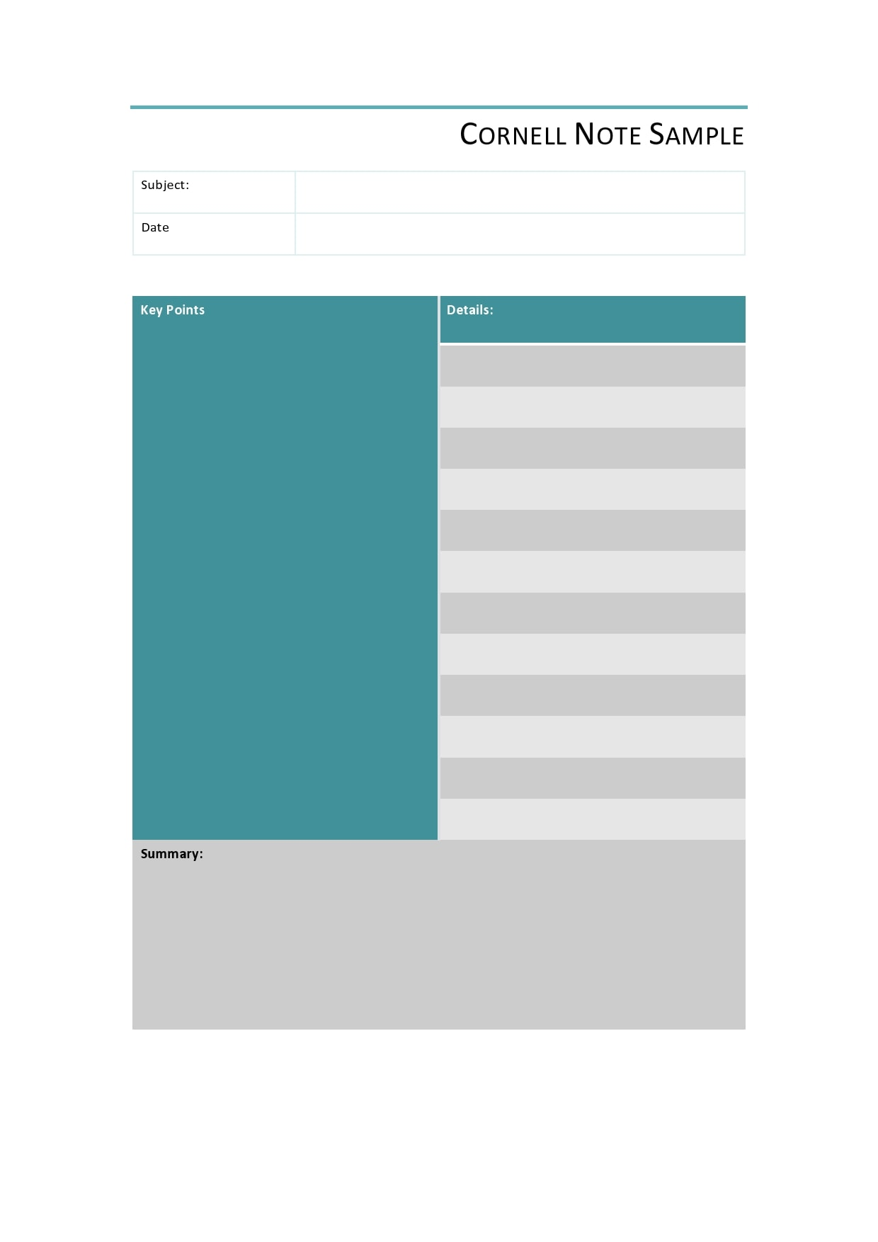 cornell notes template 14