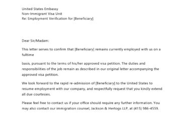 employment verification letter 08