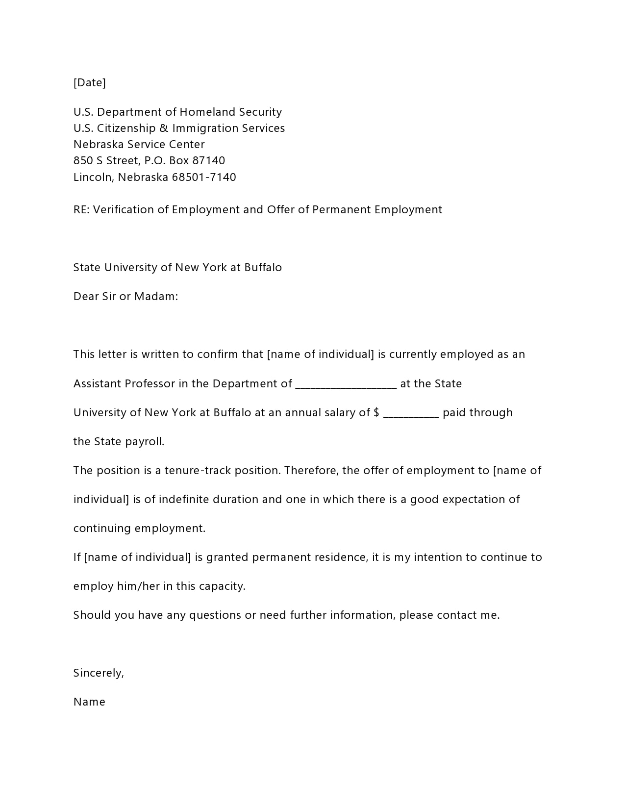 employment verification letter 17