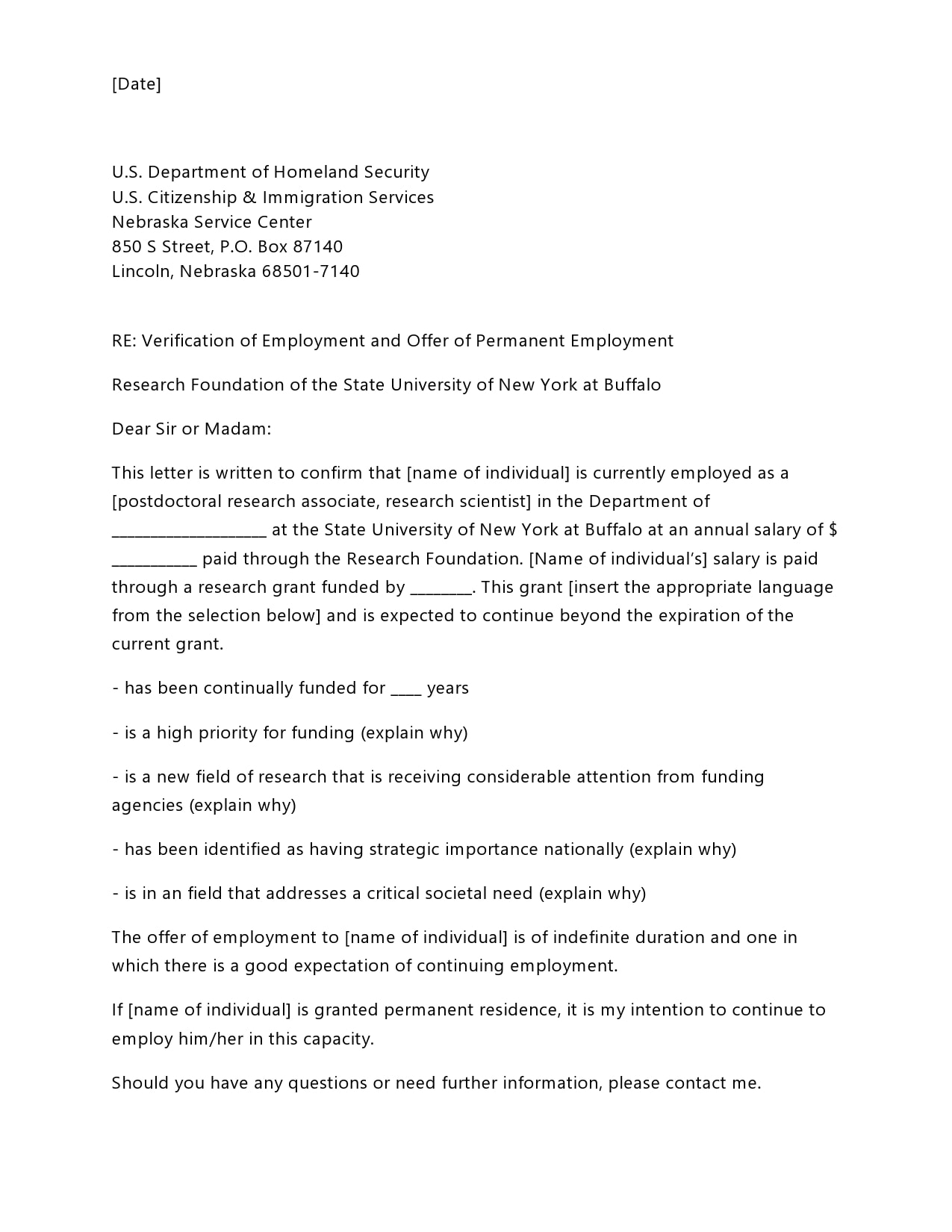 employment verification letter 18