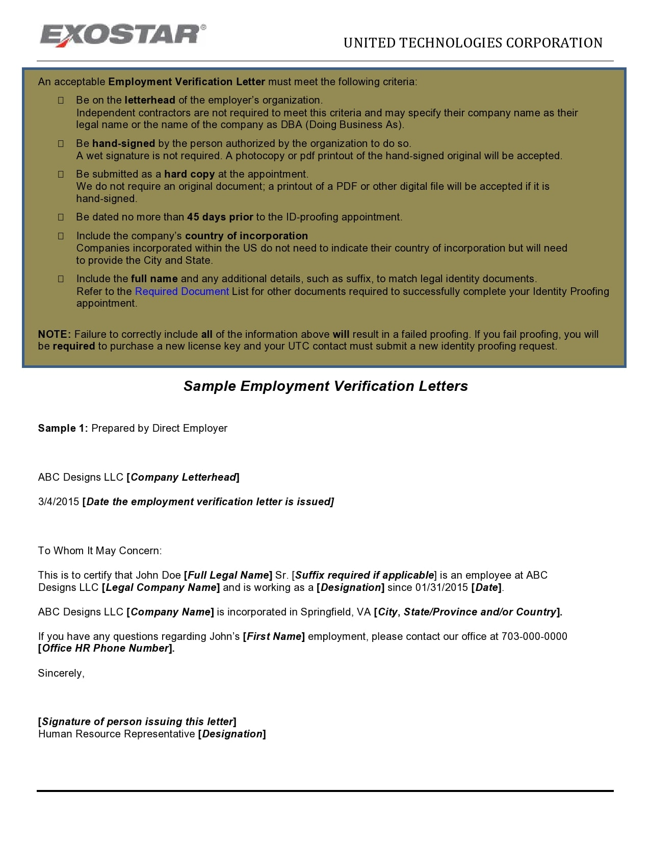 employment verification letter 26