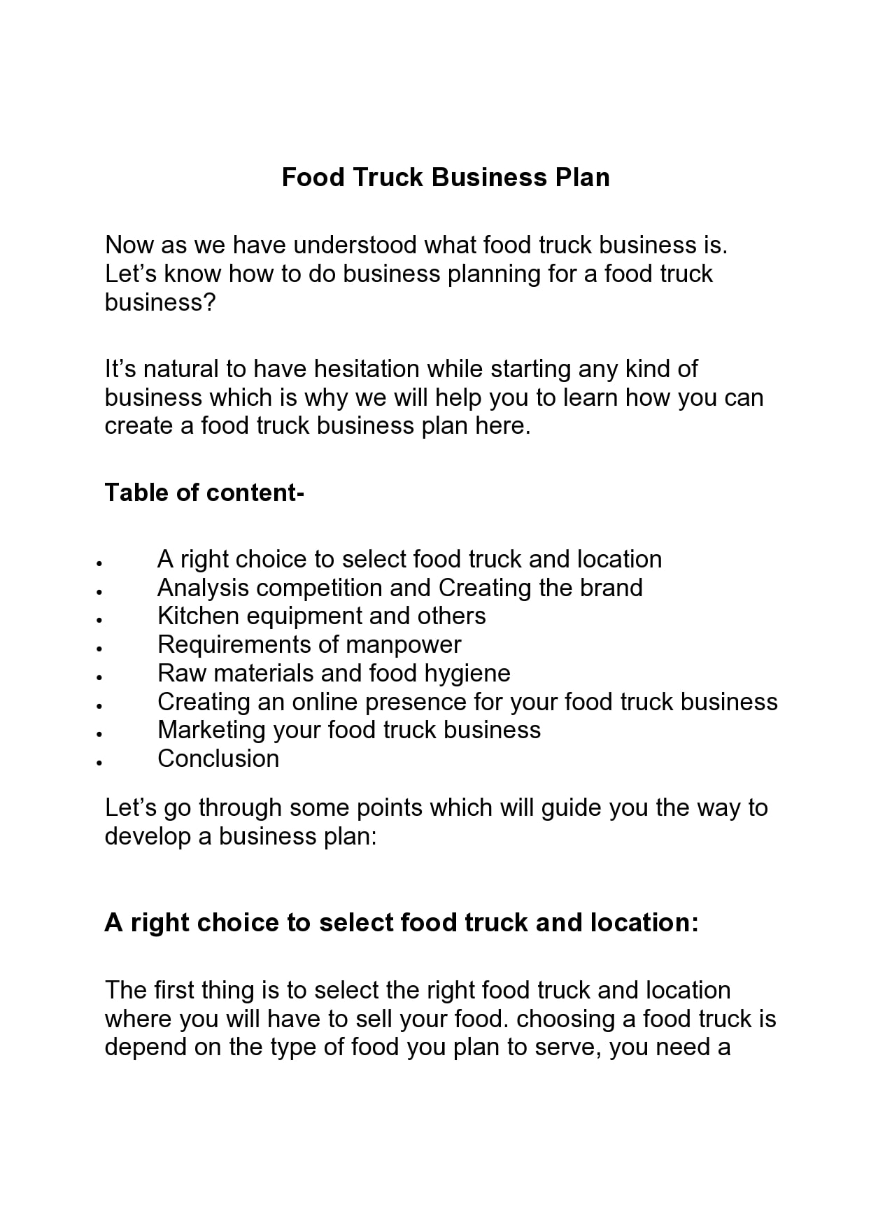 food truck business plan 17