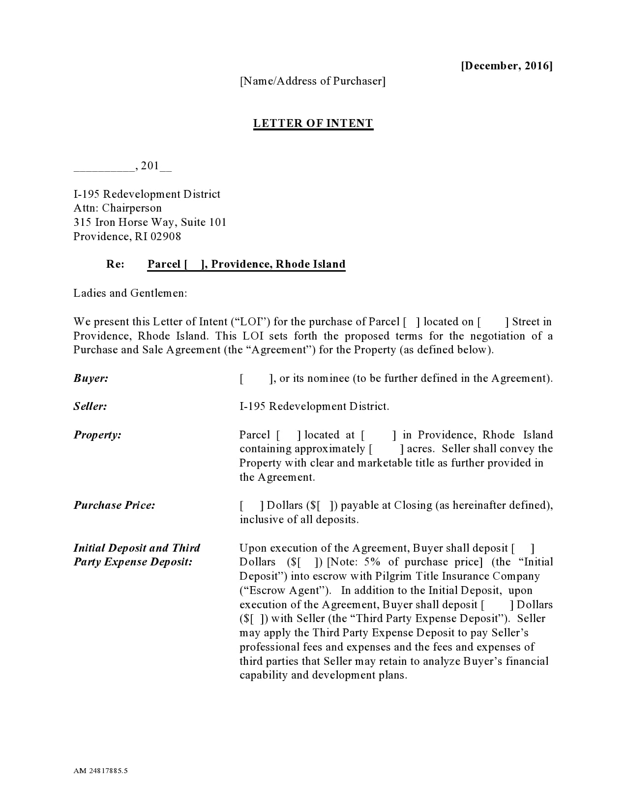 letter of intent to purchase 04