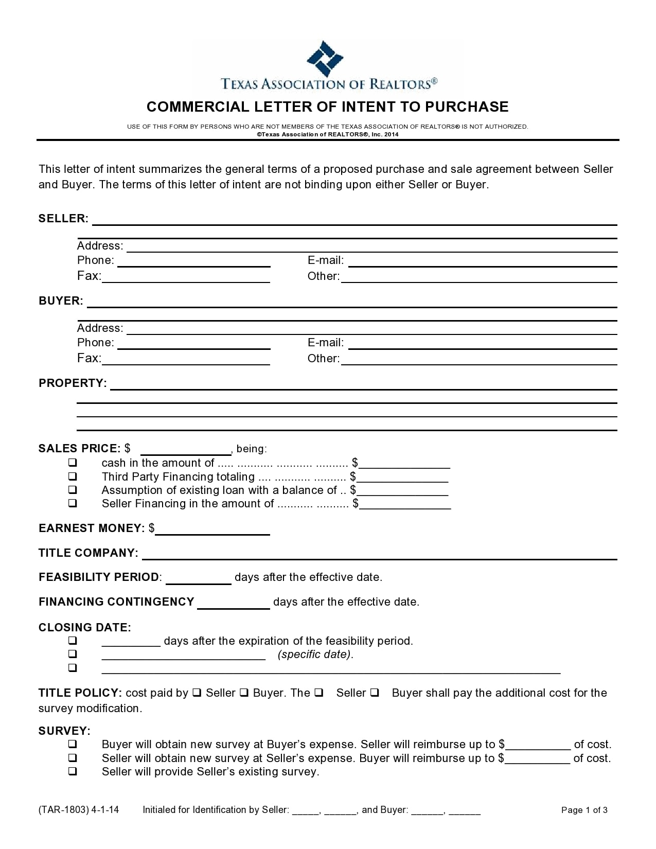 letter of intent to purchase 24