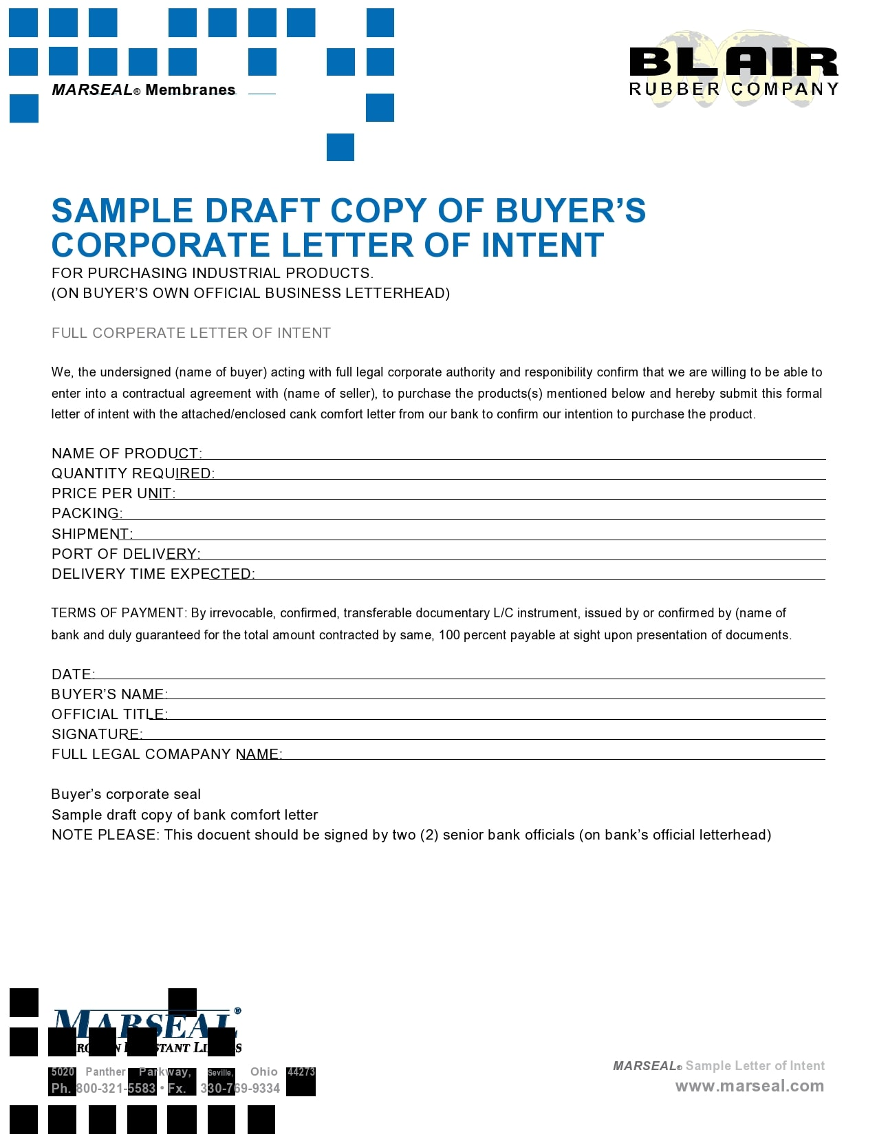 letter of intent to purchase 42