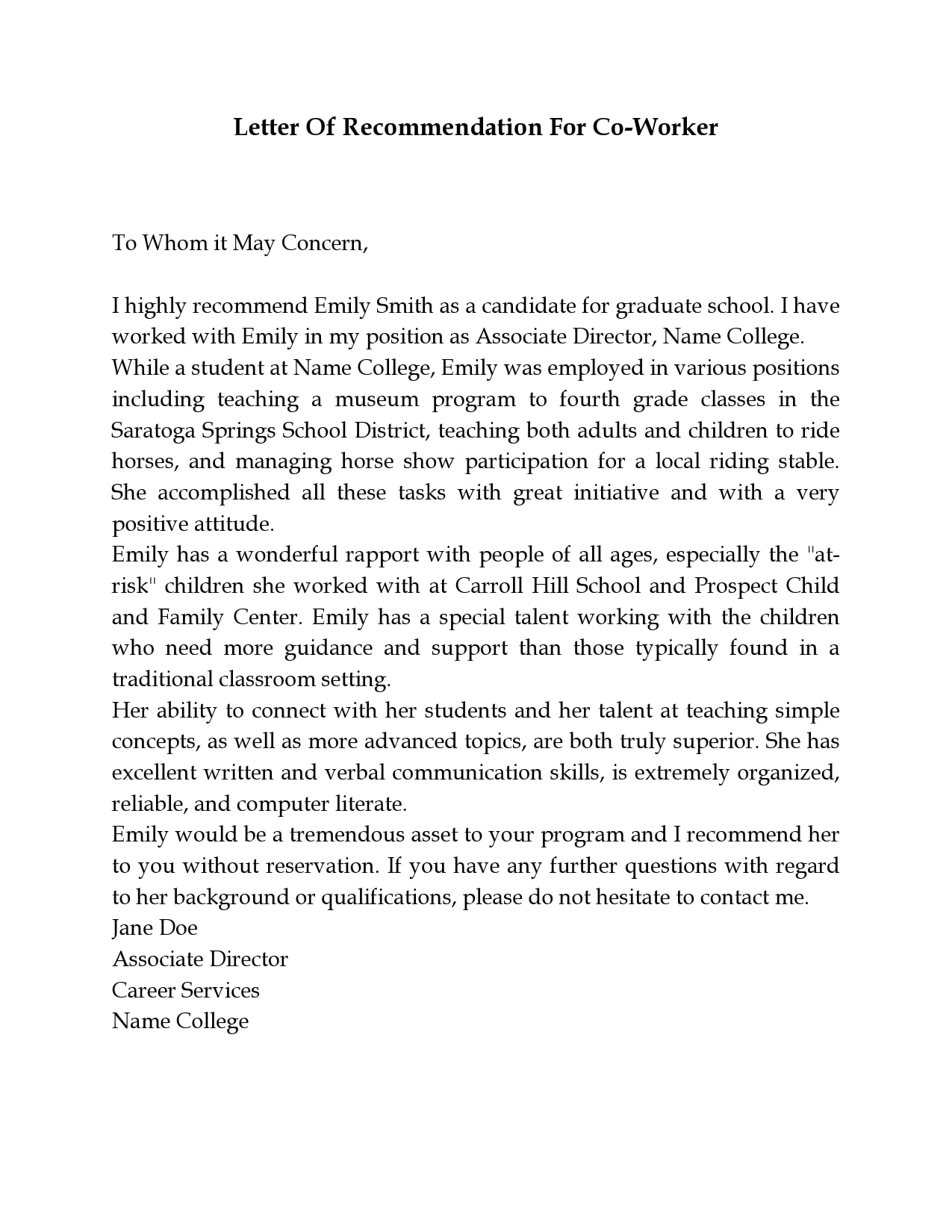 letter of recommendation for coworker 04