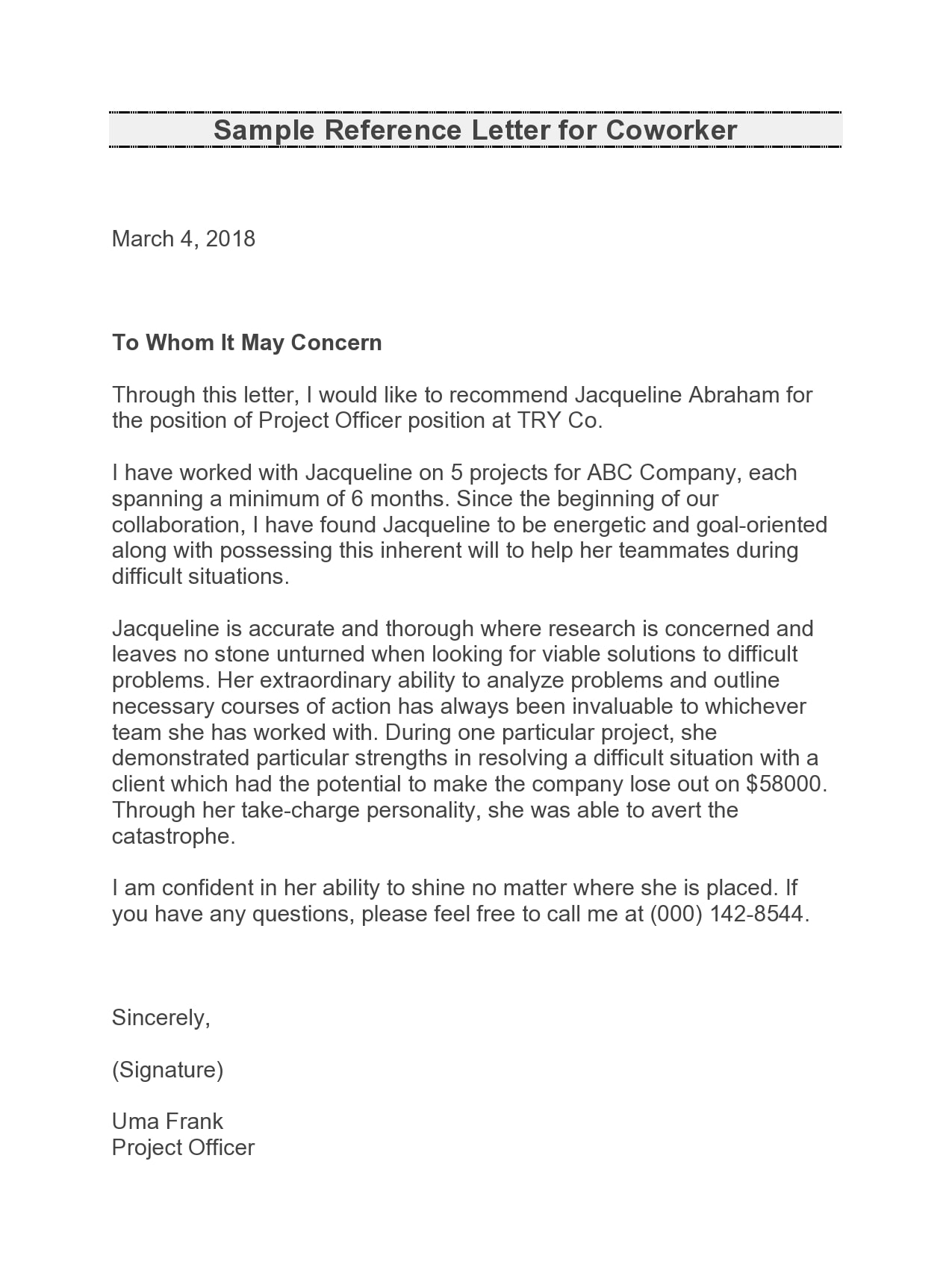 letter of recommendation for coworker 08