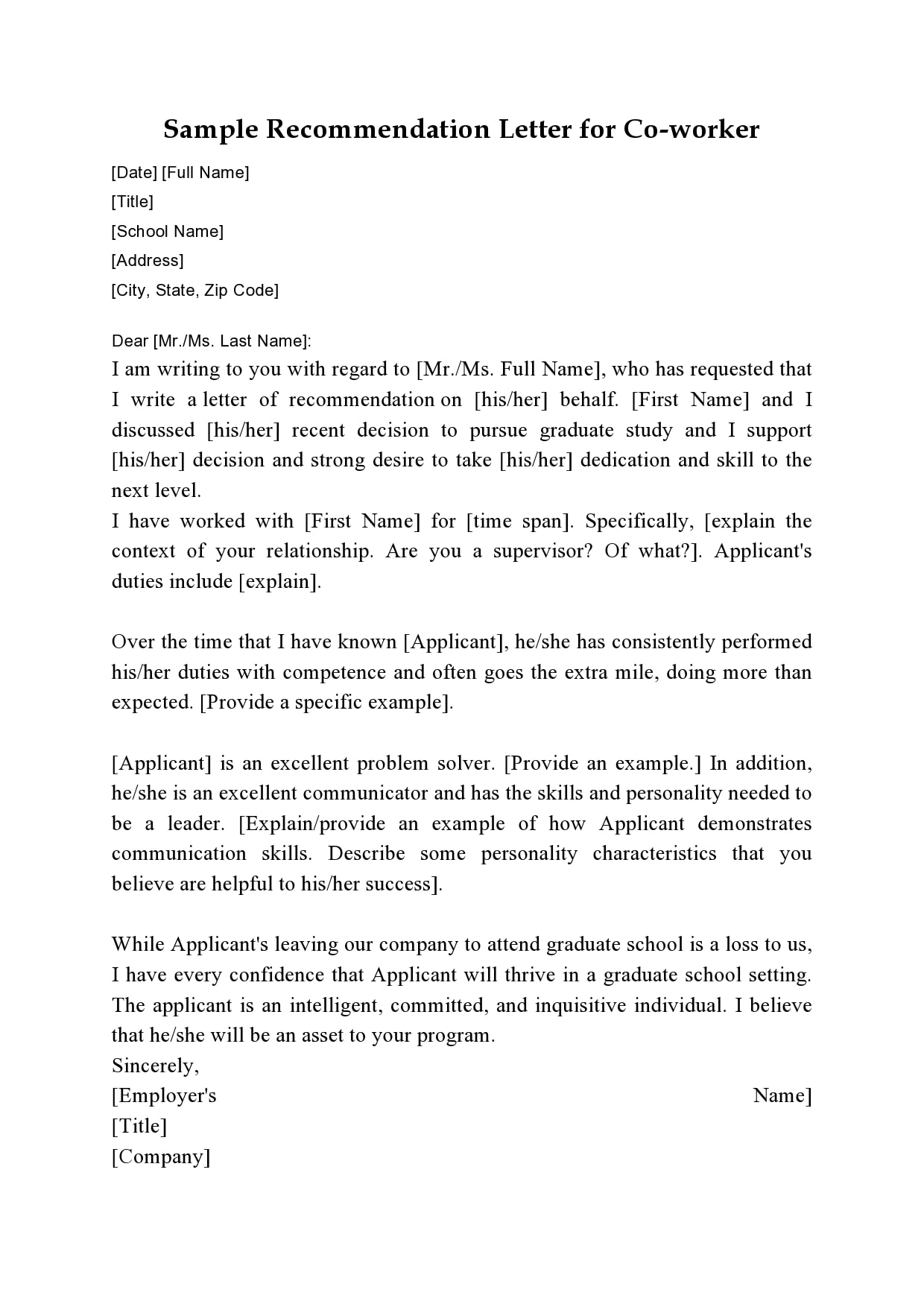letter of recommendation for coworker 09