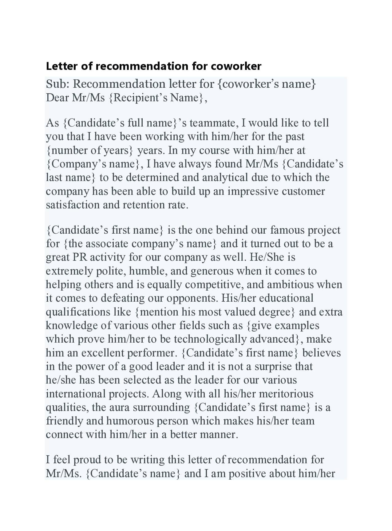 letter of recommendation for coworker 30