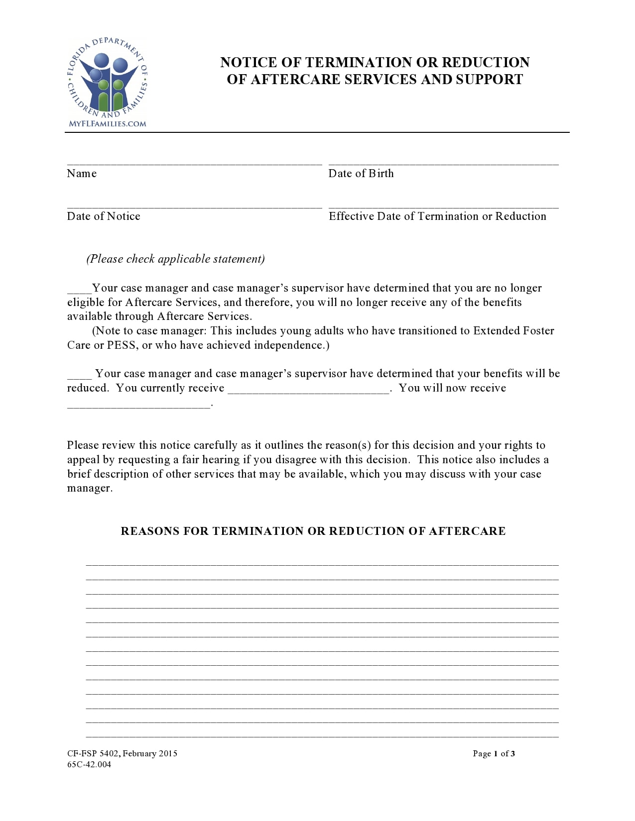 notice of termination 14