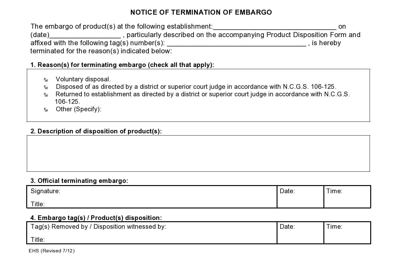 notice of termination 19