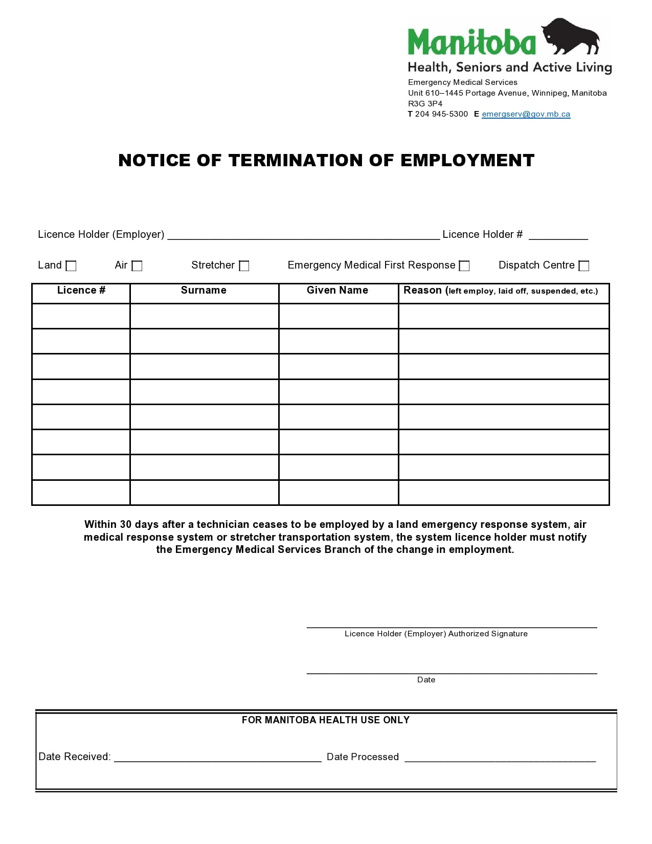notice of termination 49