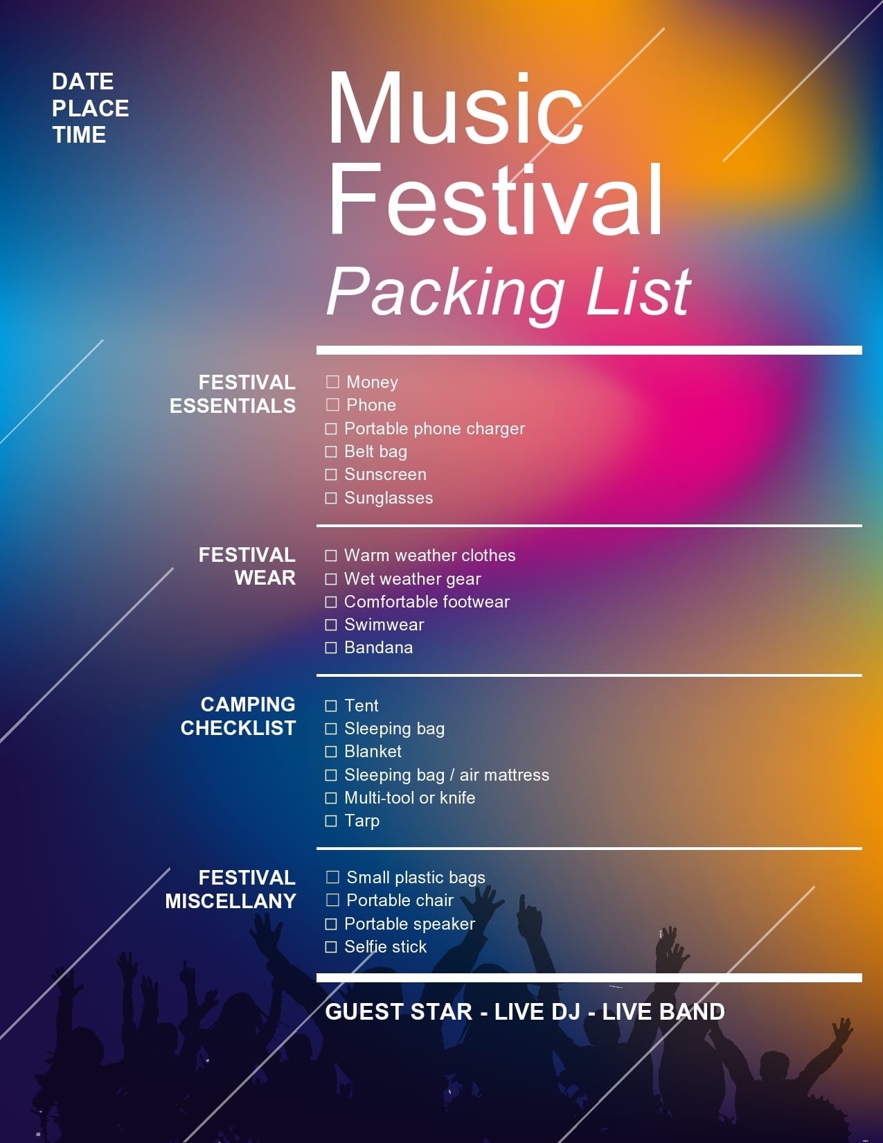 packing list template 01