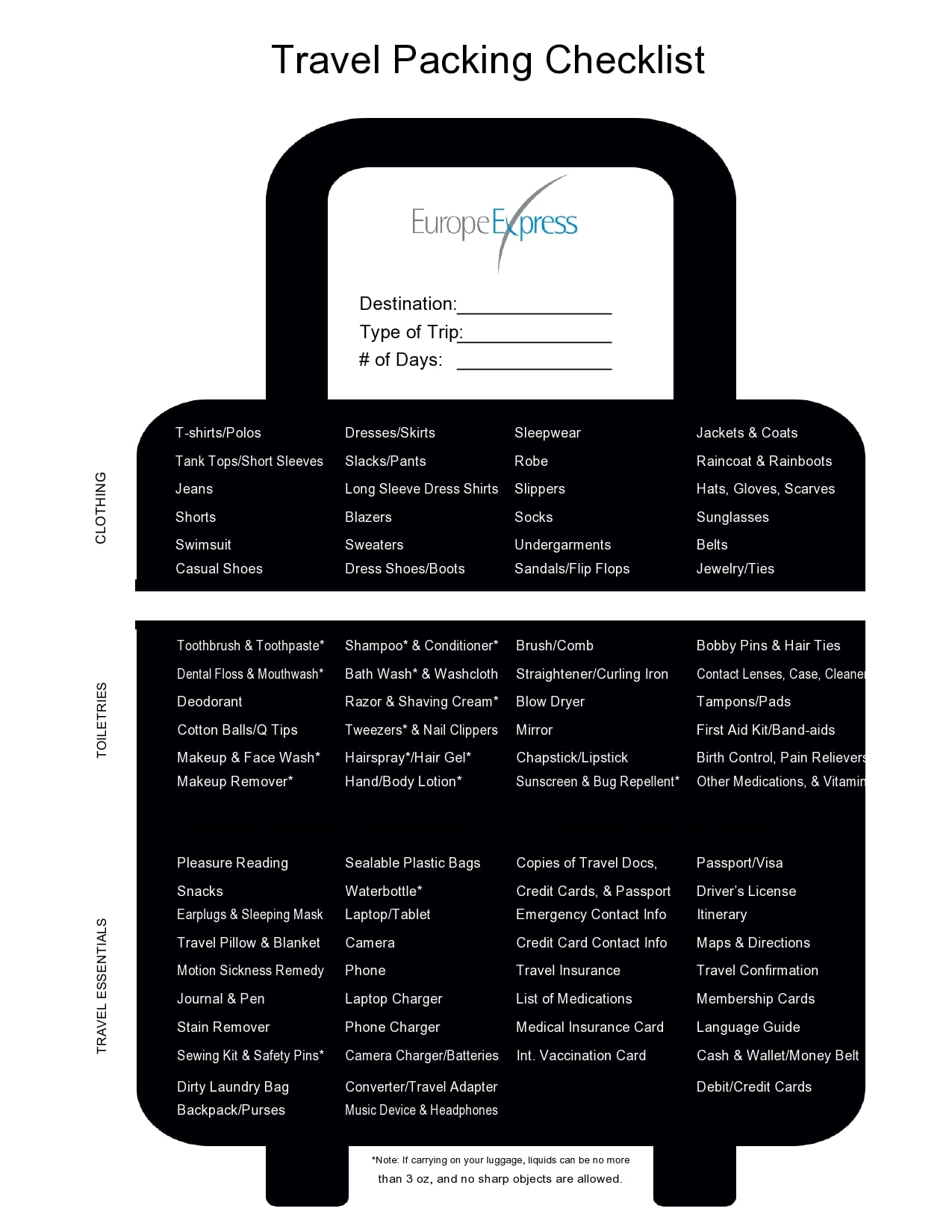 packing list template 19