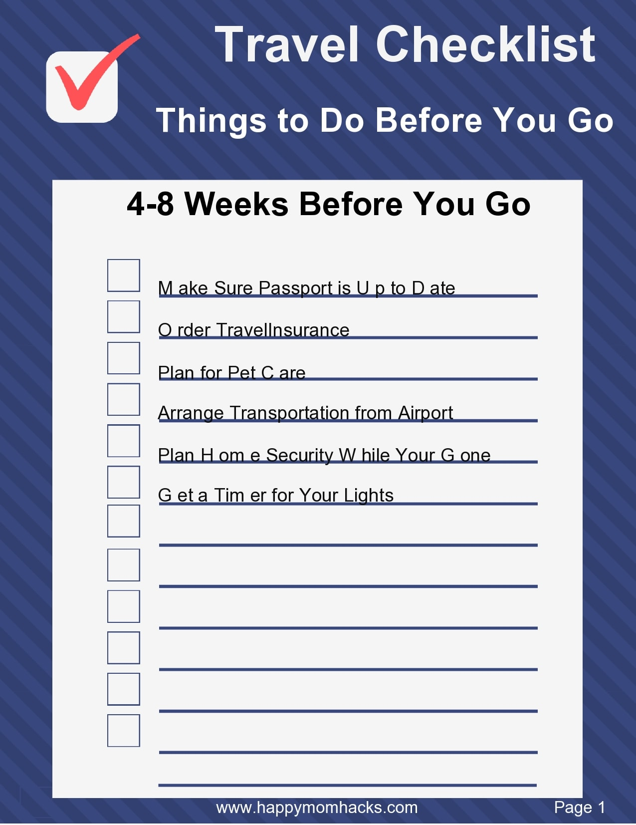 packing list template 22