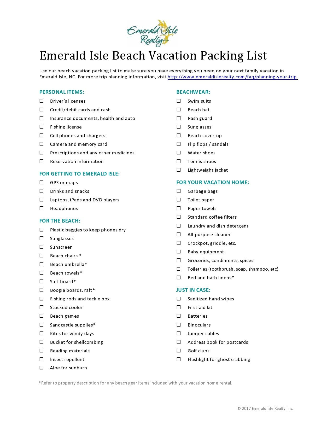 packing list template 26