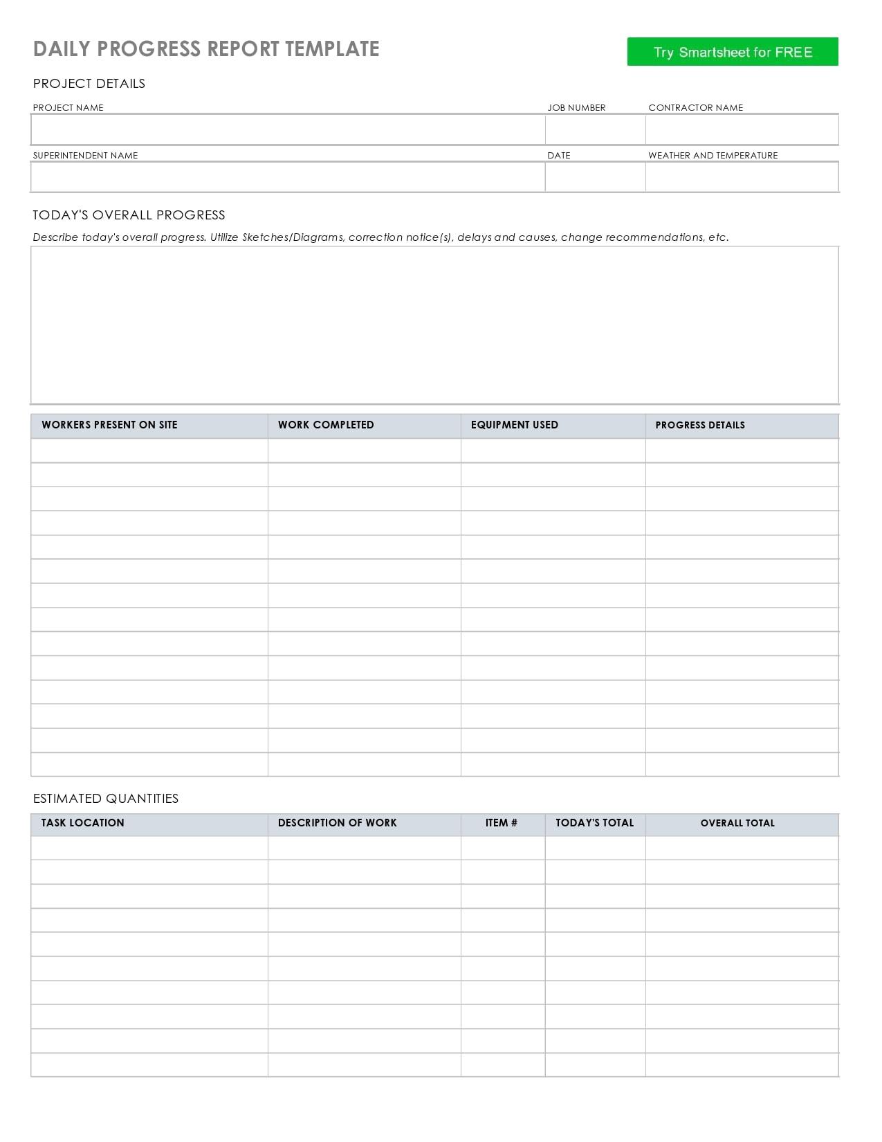 progress report template 09