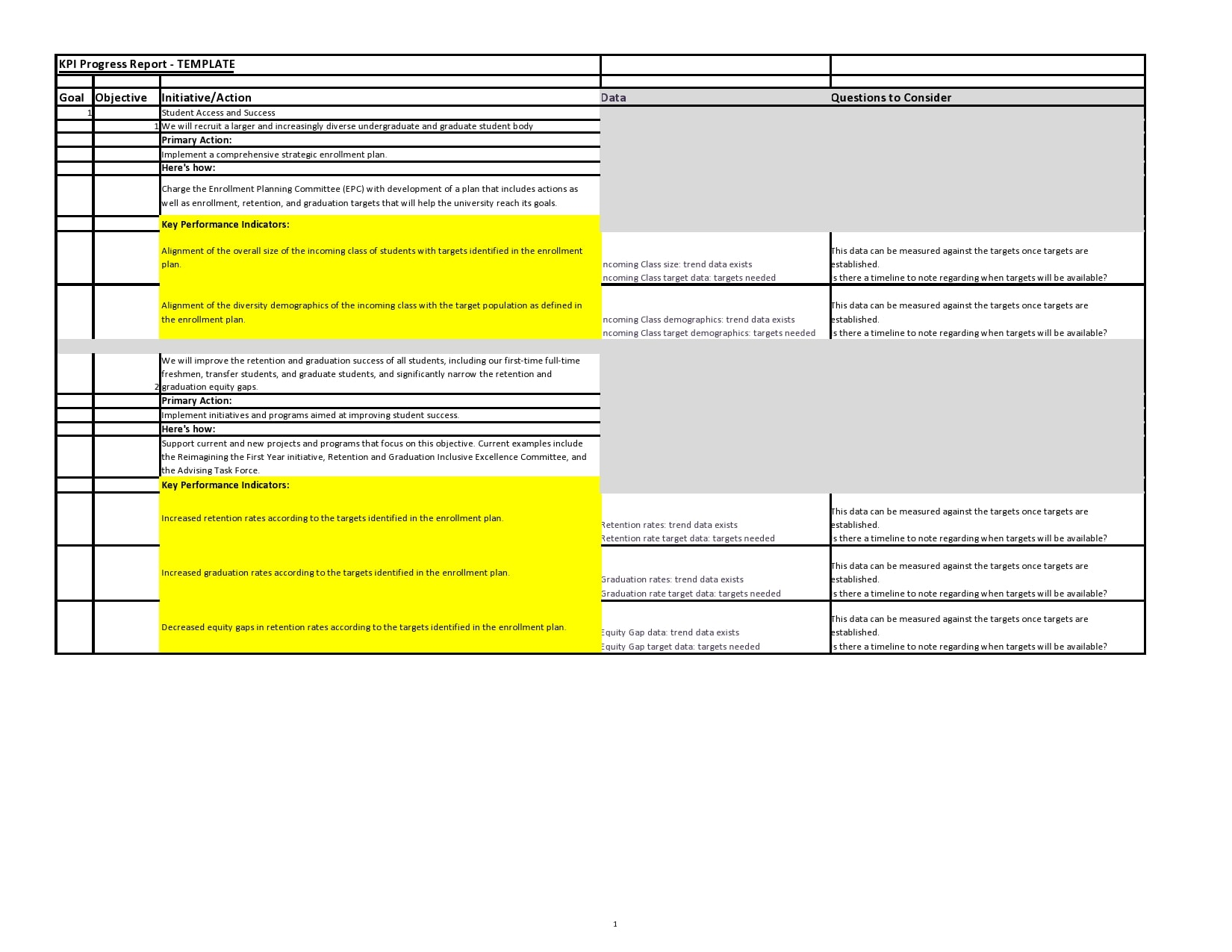 progress report template 29