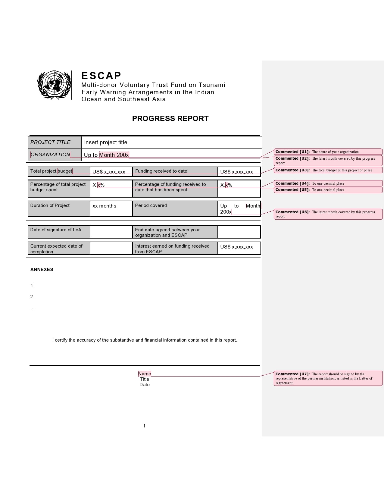 50 Professional Progress Report Templates Free Templatearchive