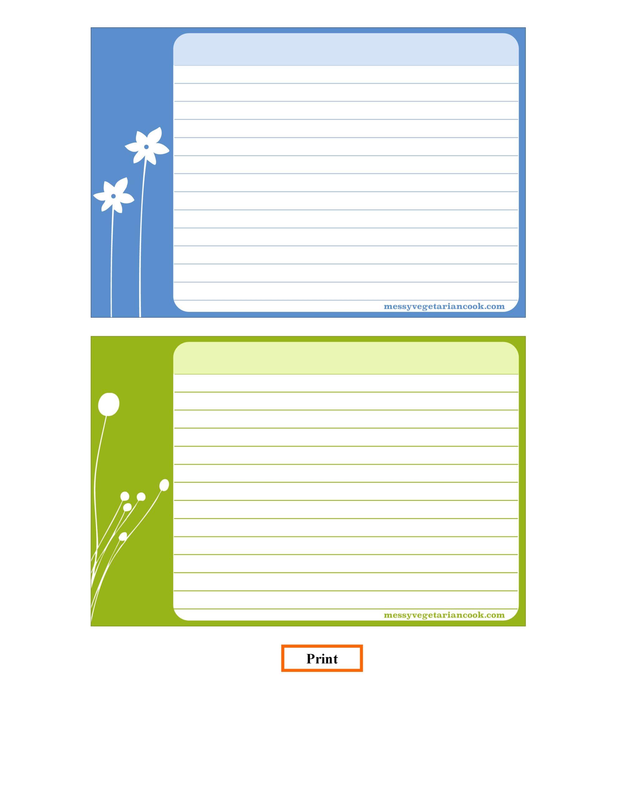 21 Free Recipe Card Templates (Word, Google Docs) - TemplateArchive In Google Docs Note Card Template