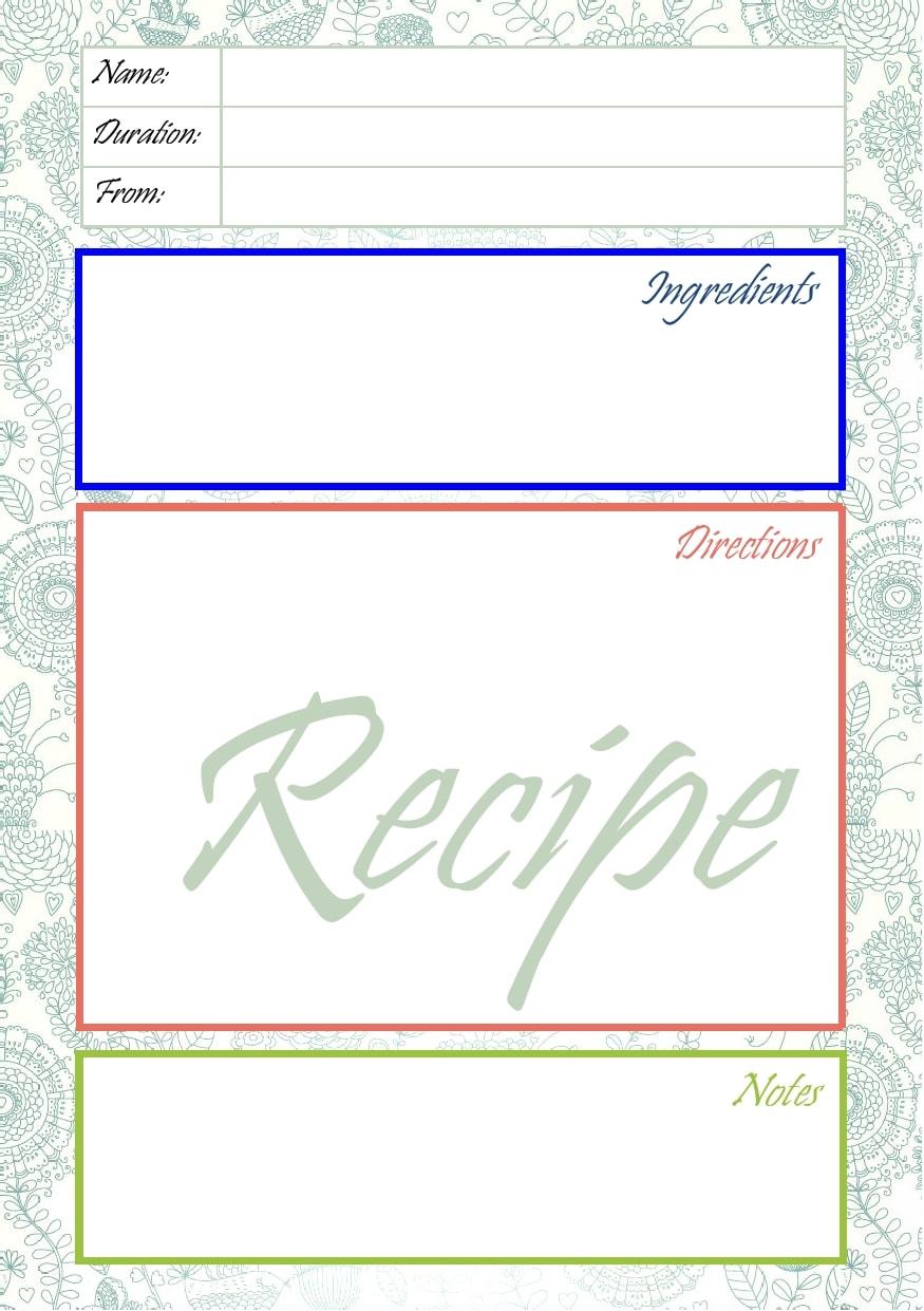 21 Free Recipe Card Templates (Word, Google Docs) - TemplateArchive Throughout Google Docs Note Card Template