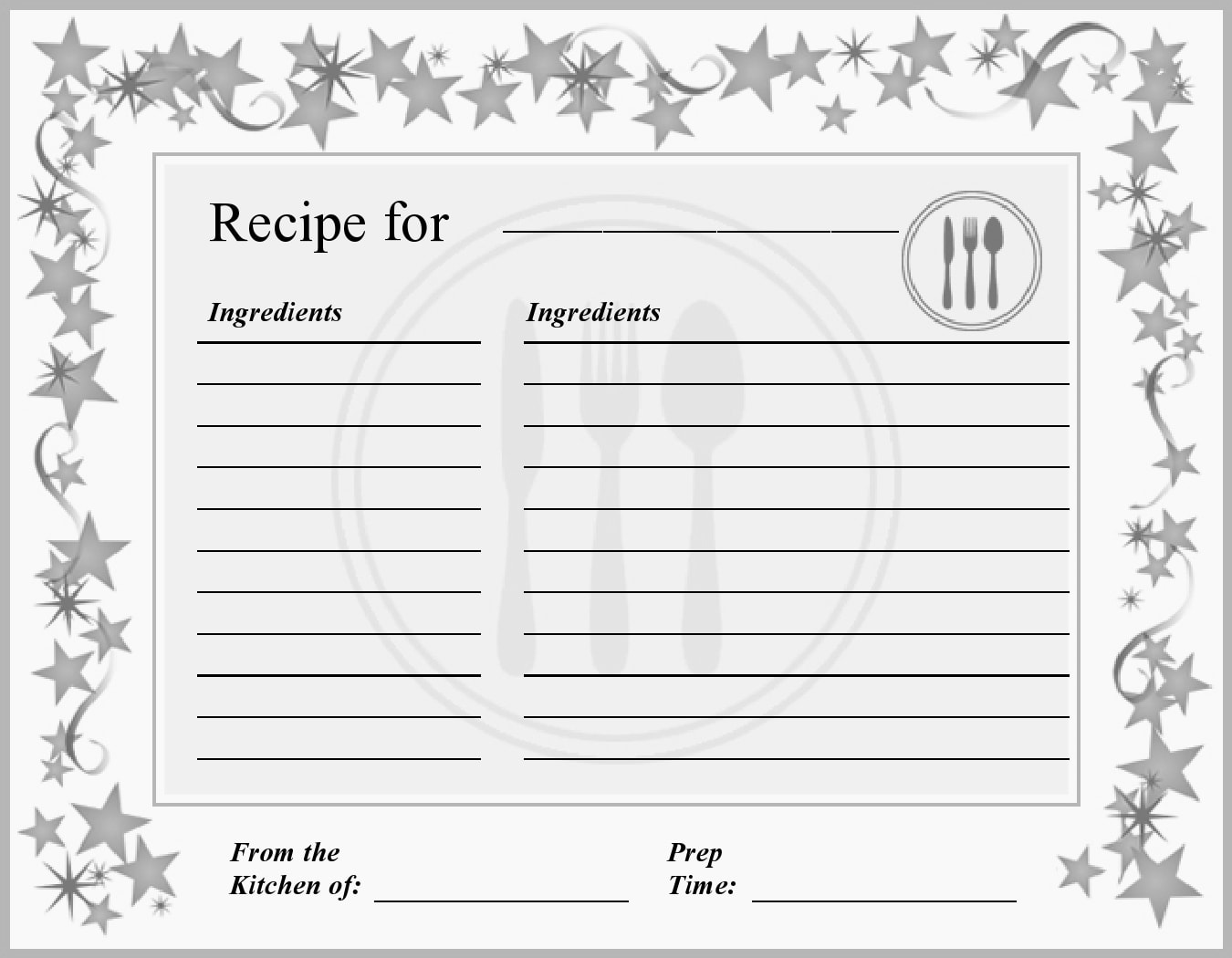 47 Free Recipe Card Templates Word Google Docs Templatearchive