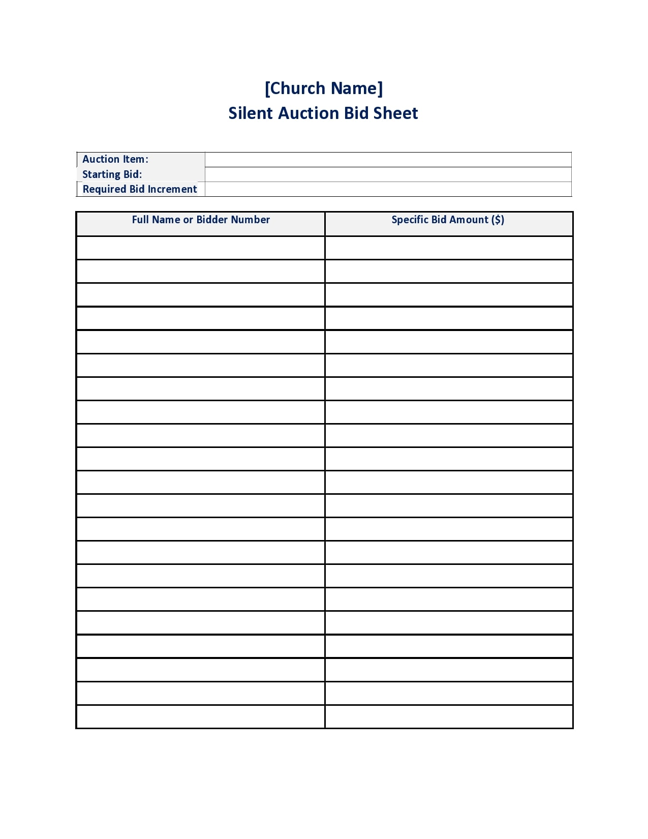 silent auction bid sheet 03