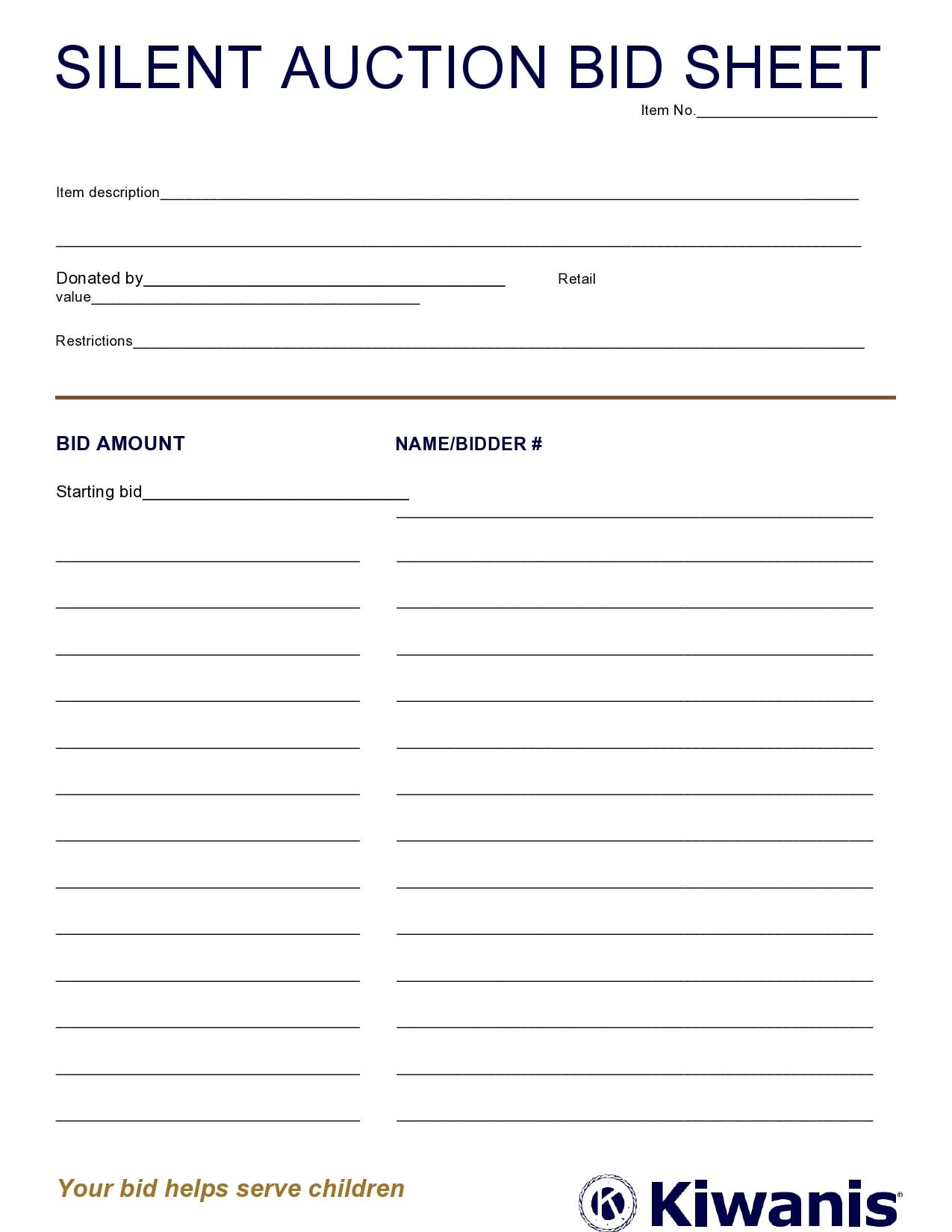 silent auction bid sheet 04