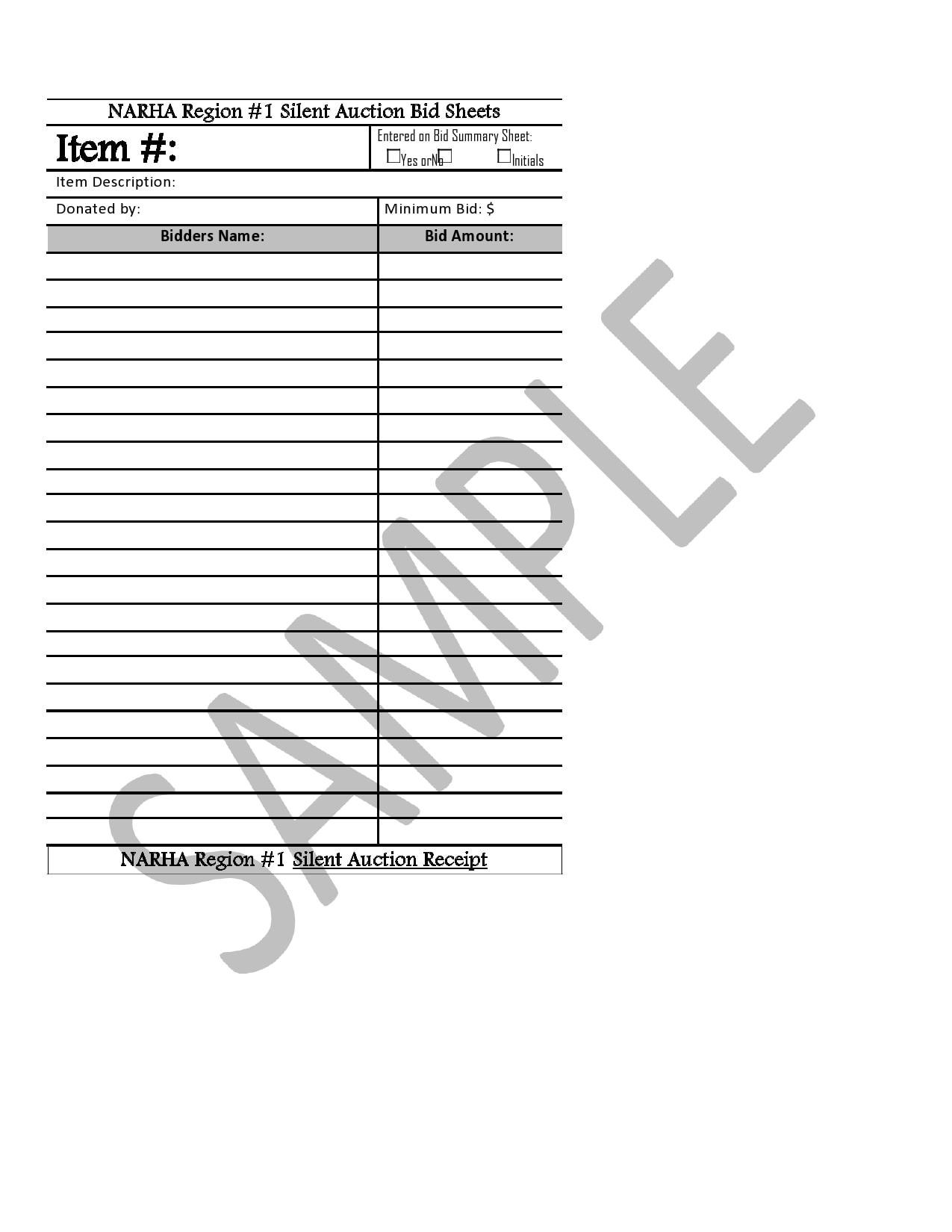 silent auction bid sheet 07