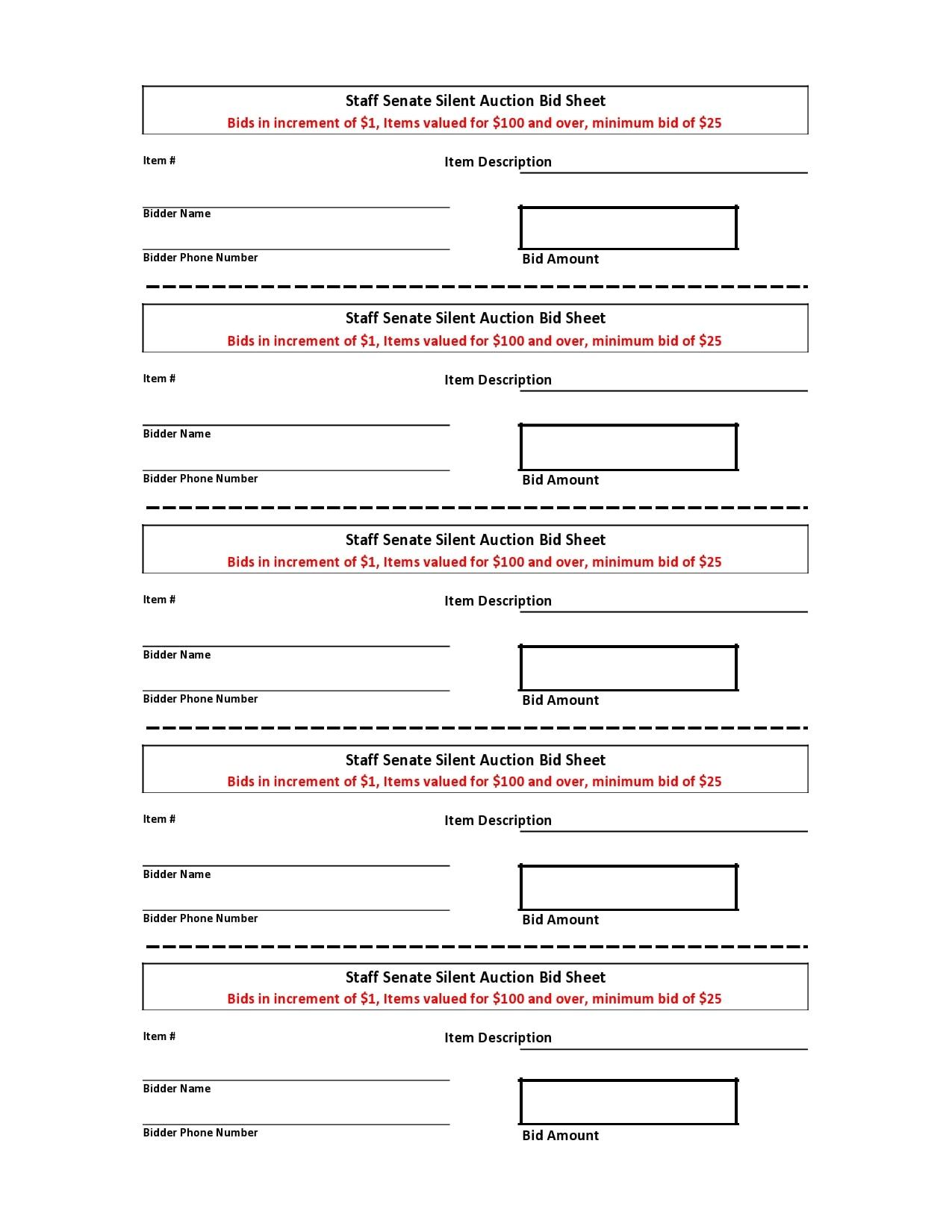 silent auction bid sheet 08