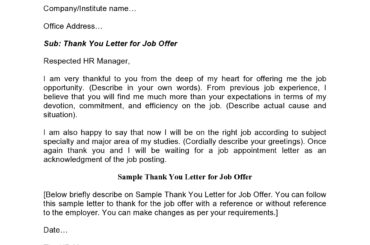 thank you letter for job offer 09