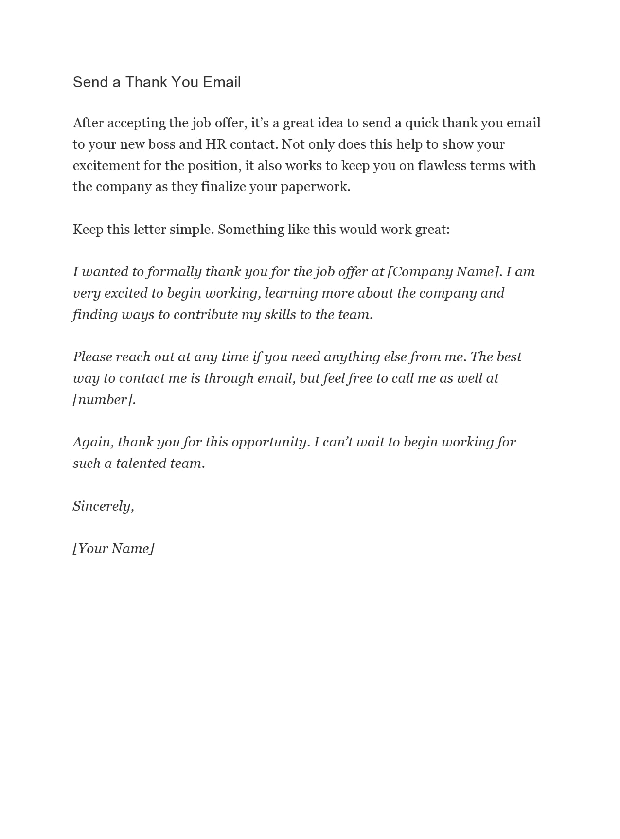 Thank You Letter For Offer from templatearchive.com