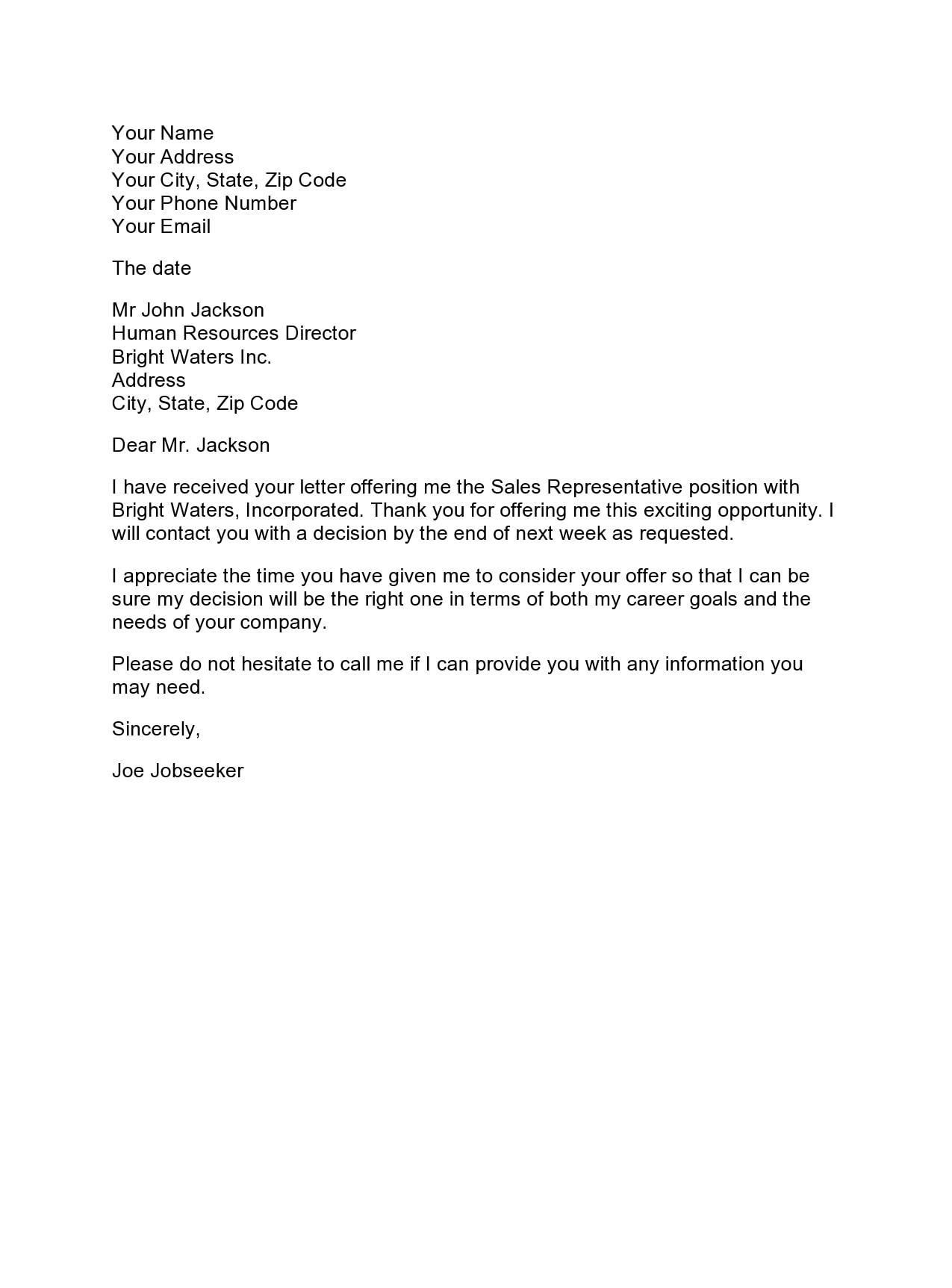 thank you letter for job offer 27