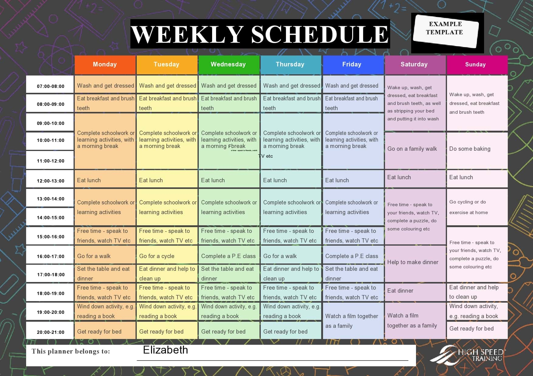 weekly schedule template 06