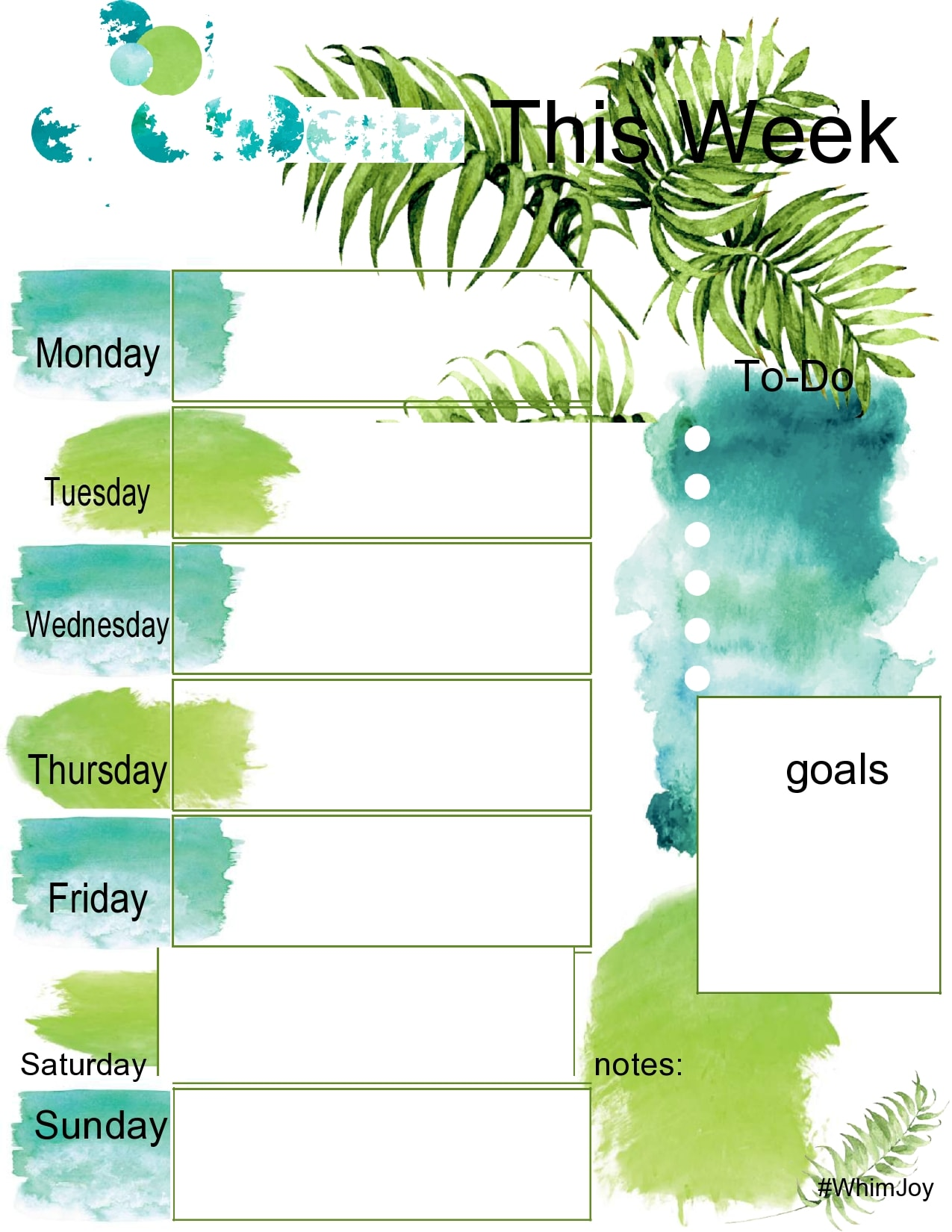 weekly schedule template 11