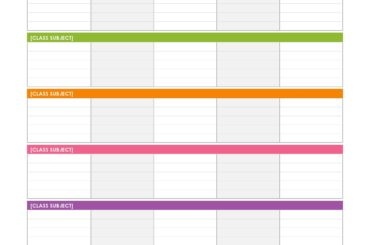 weekly schedule template 12