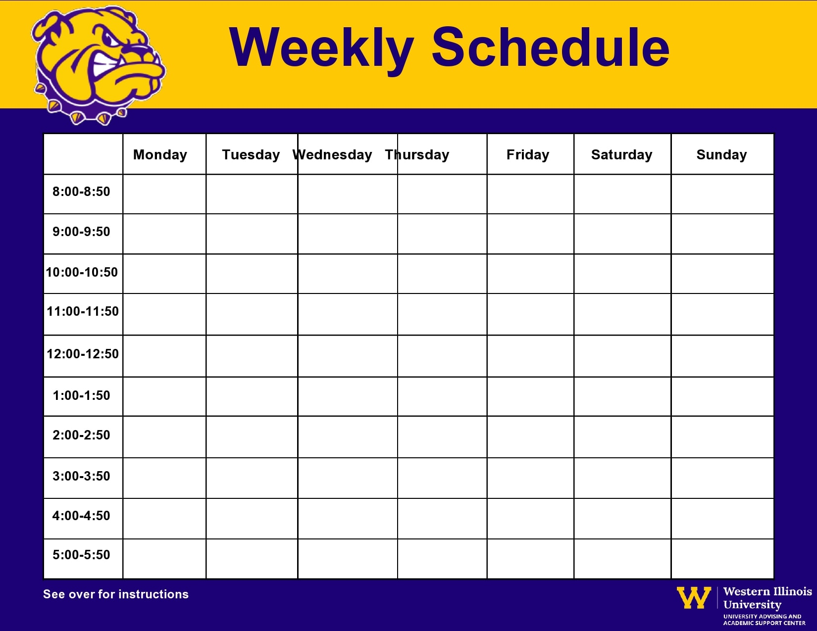 weekly schedule template 19