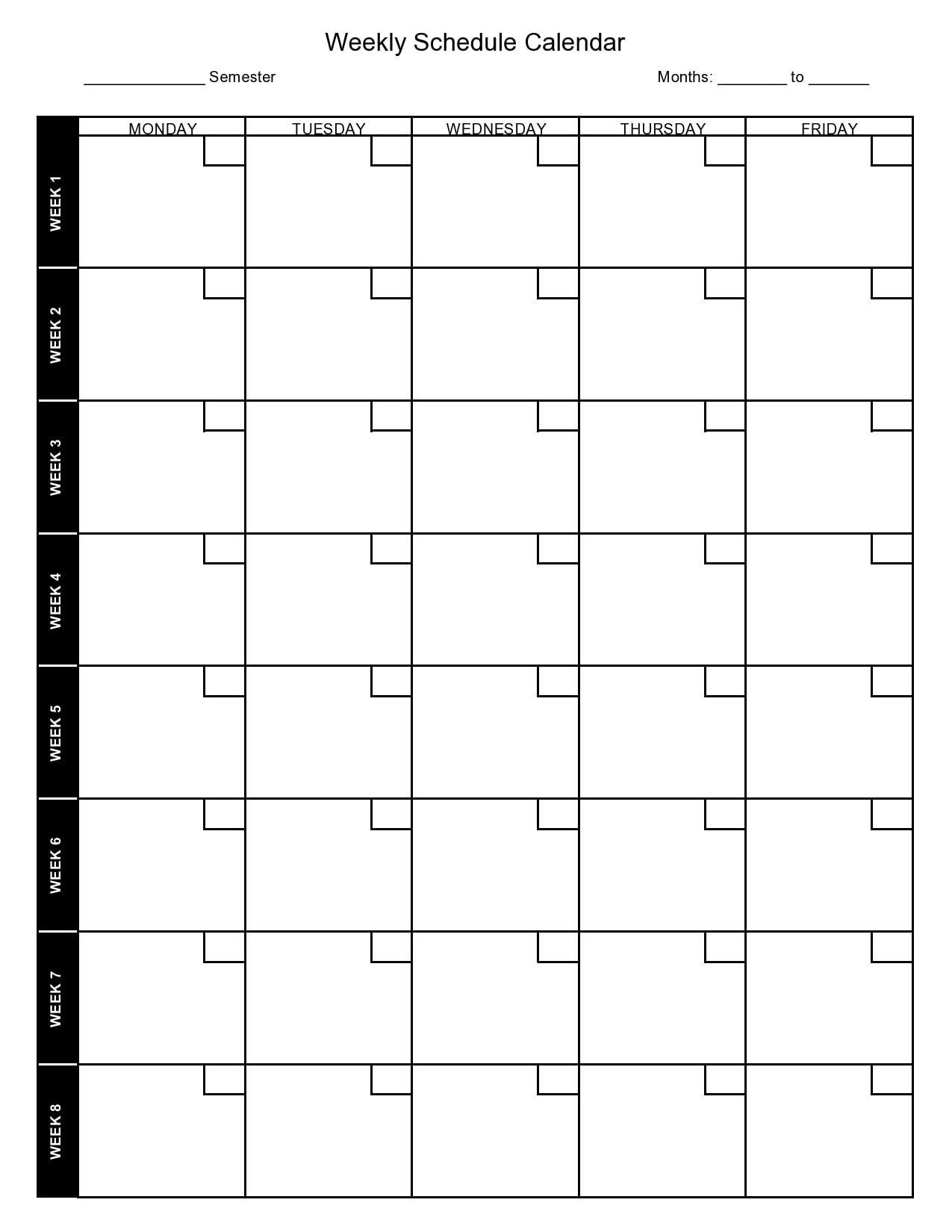 weekly schedule template 27