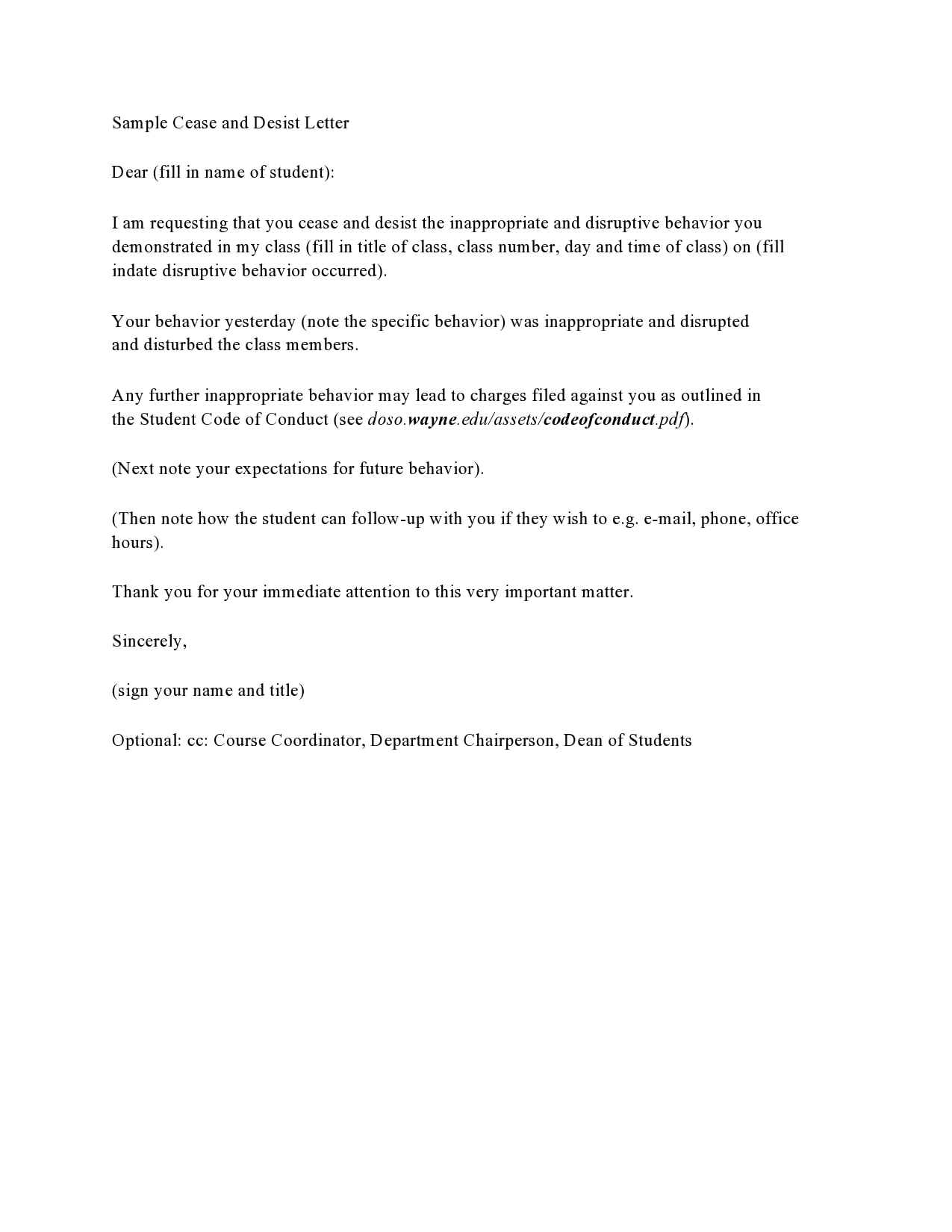 cease and desist letter template 27