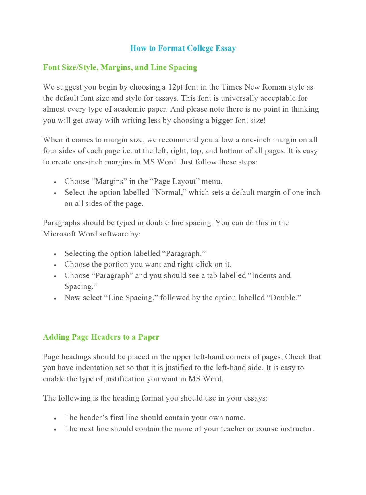 college essay format 09