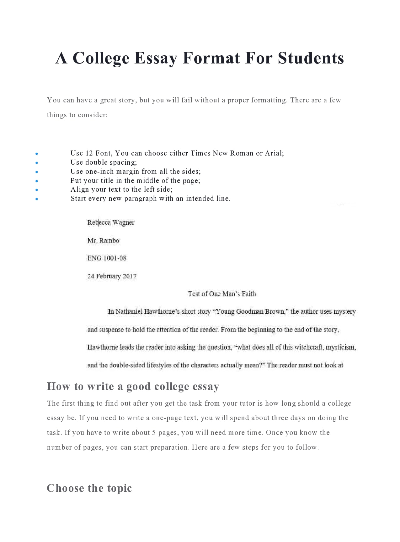 college essay format 12