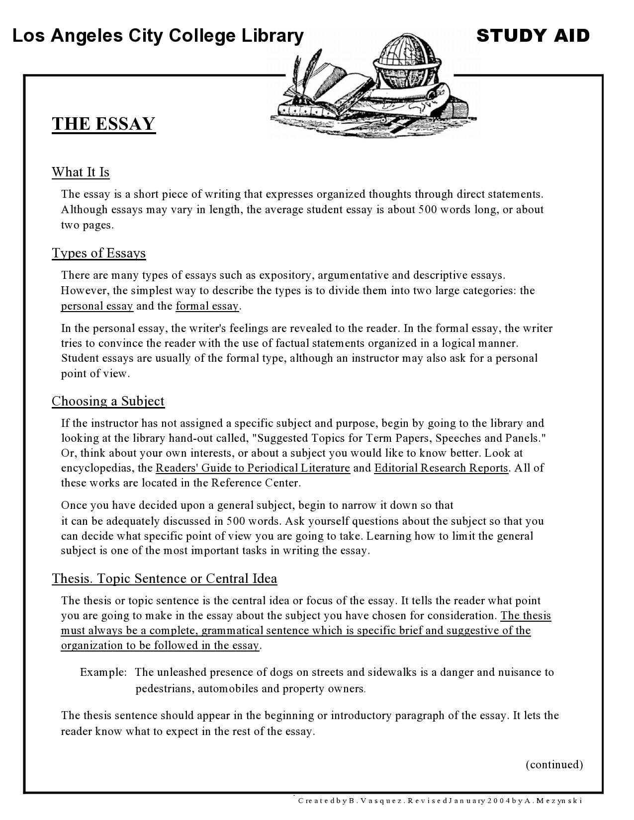college essay format 16