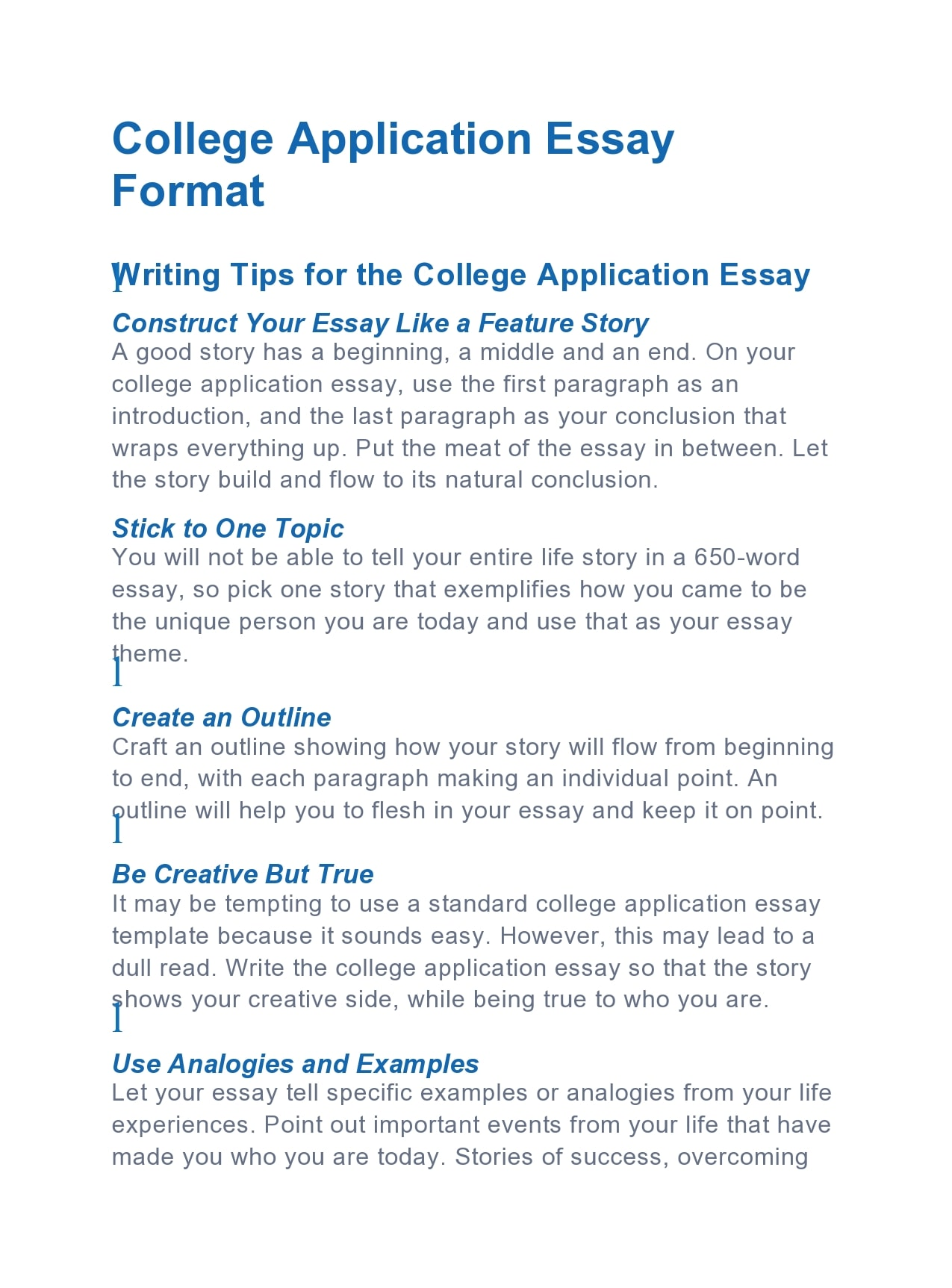 26 Outstanding College Essay Examples /