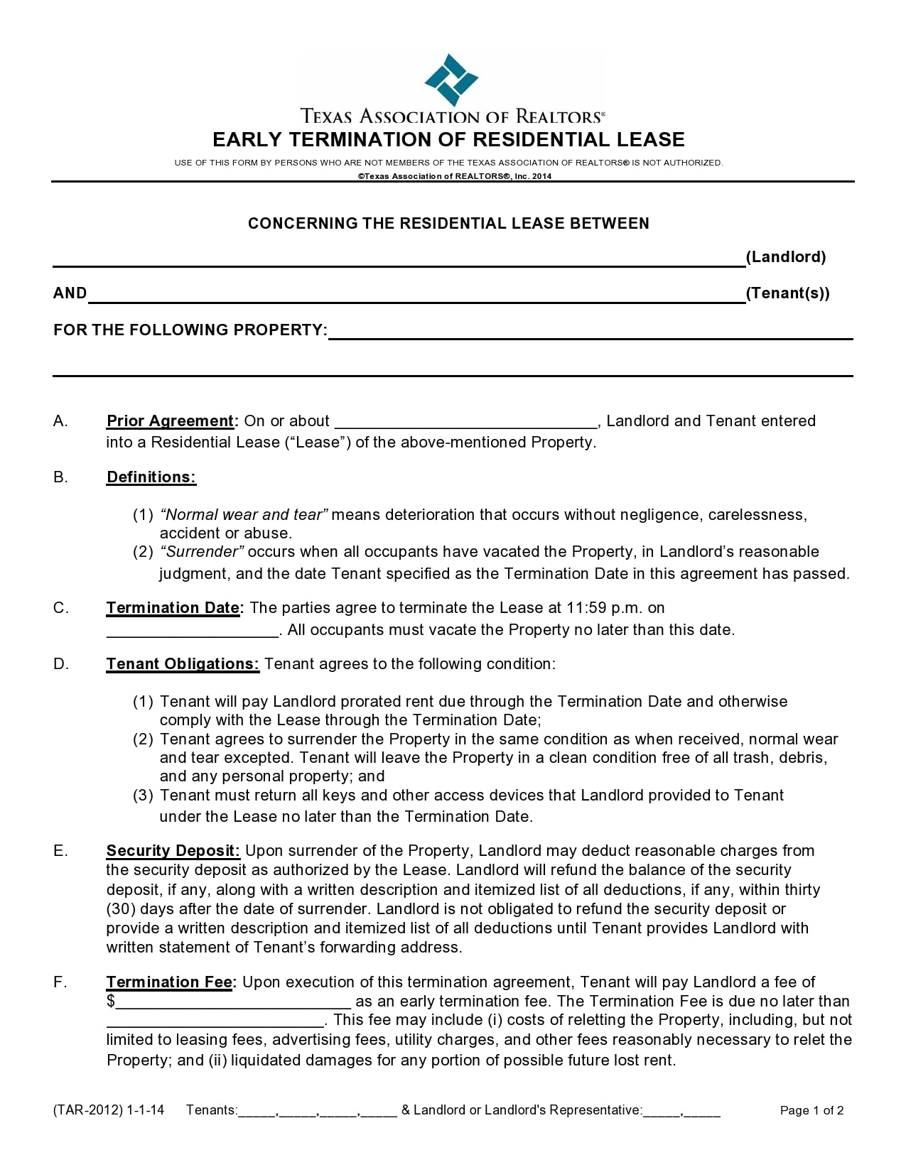 early lease termination letter 06
