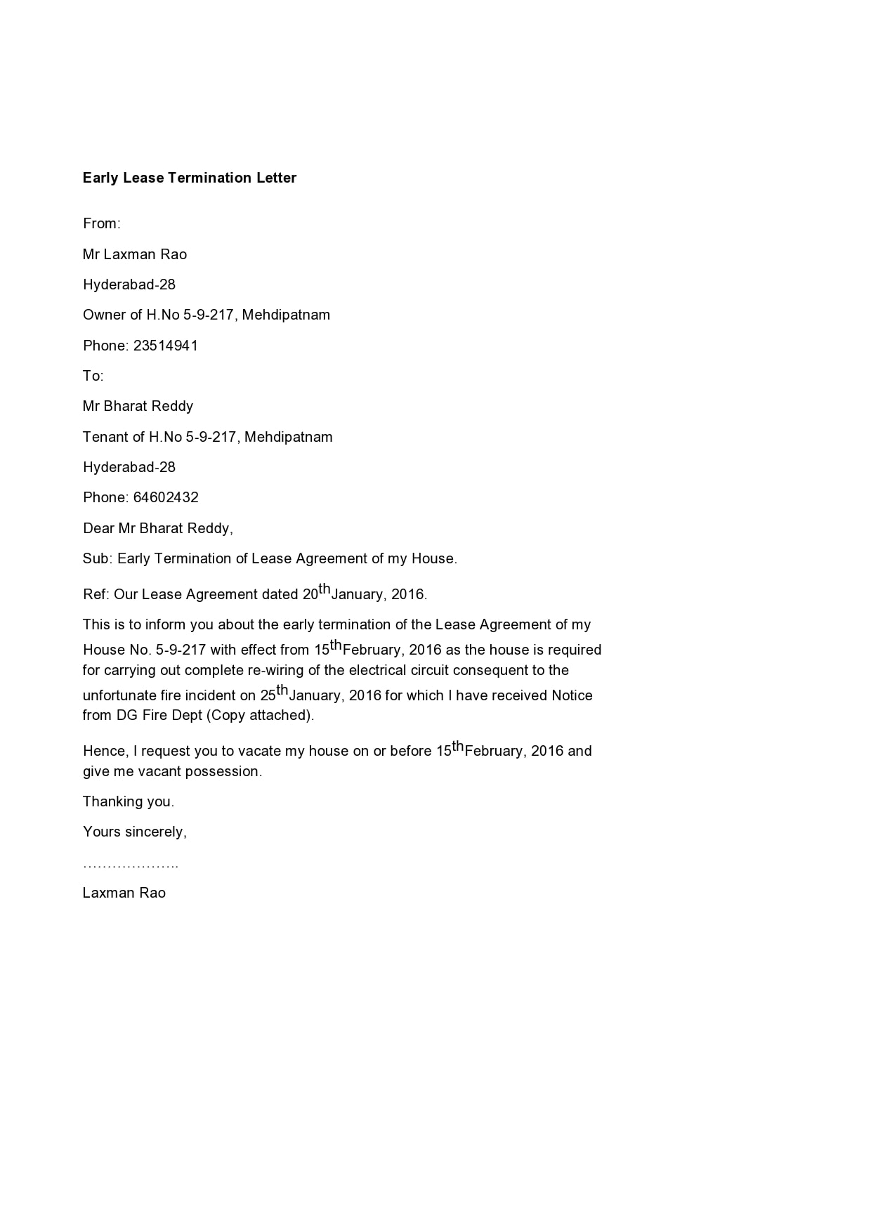 early lease termination letter 07