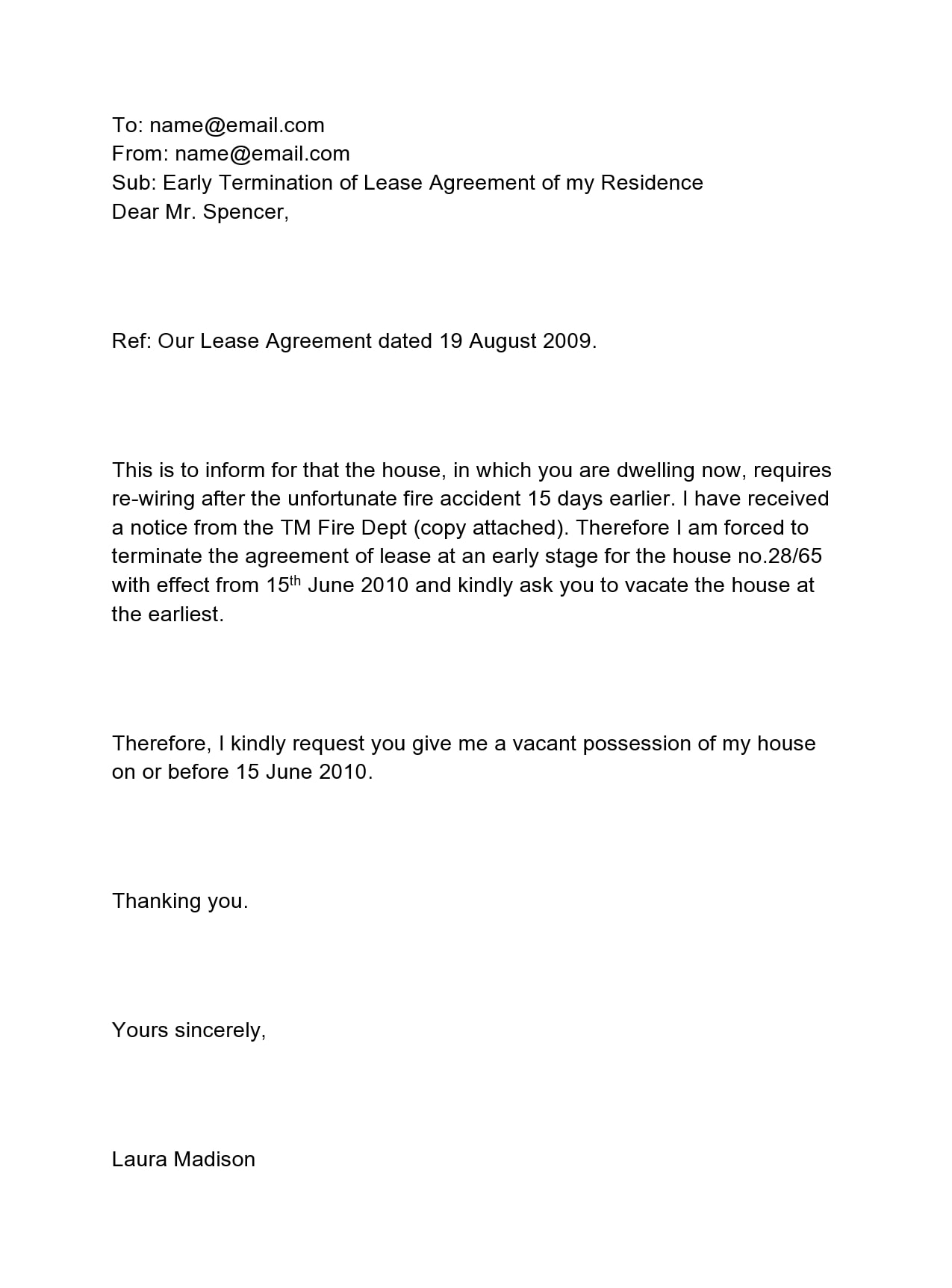 early lease termination letter 16