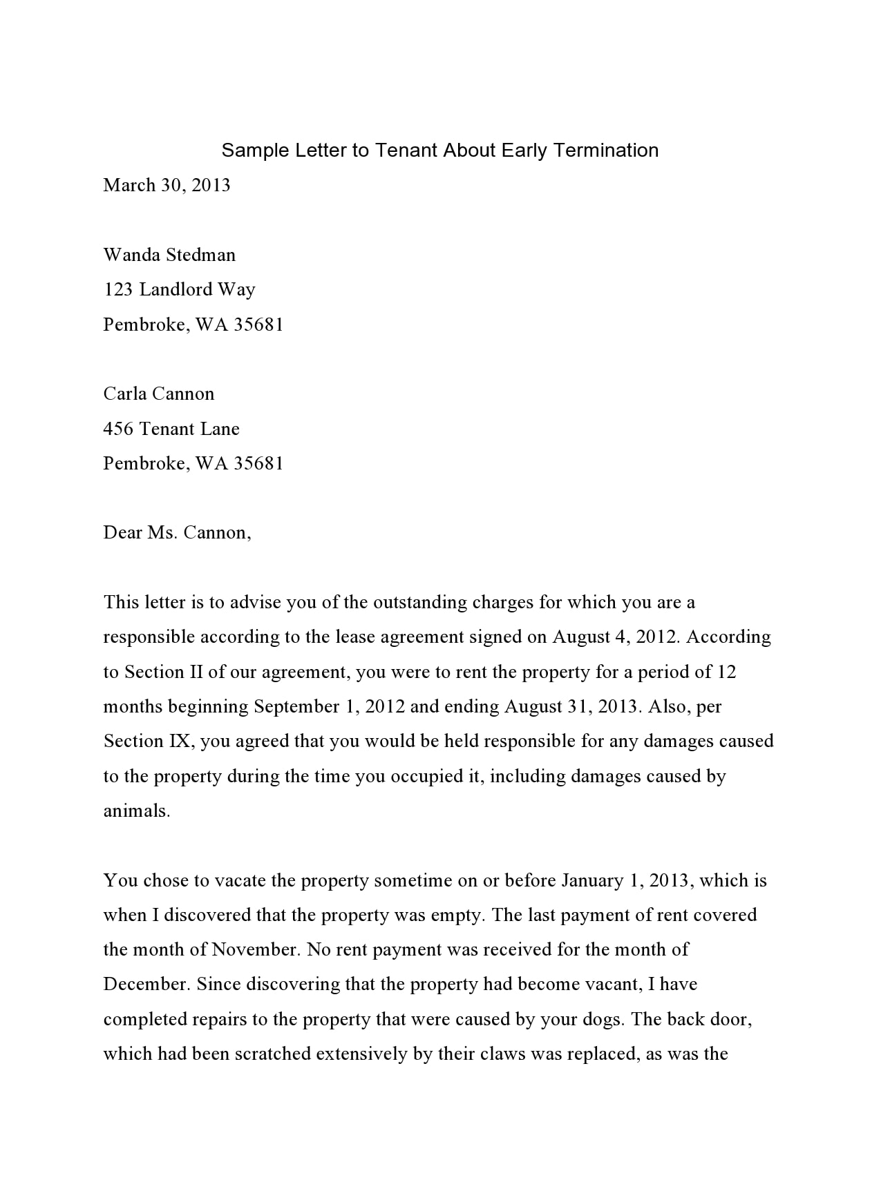 Termination Of Lease Letter To Tenant from templatearchive.com