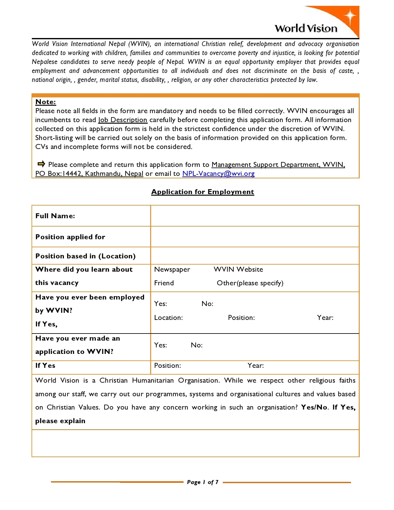 employment application template 12