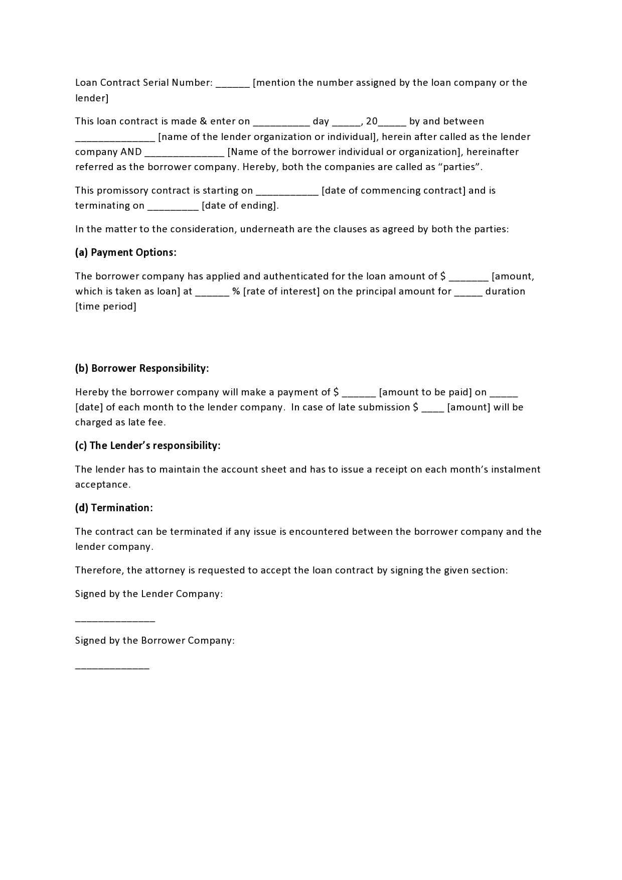 family loan agreement 27